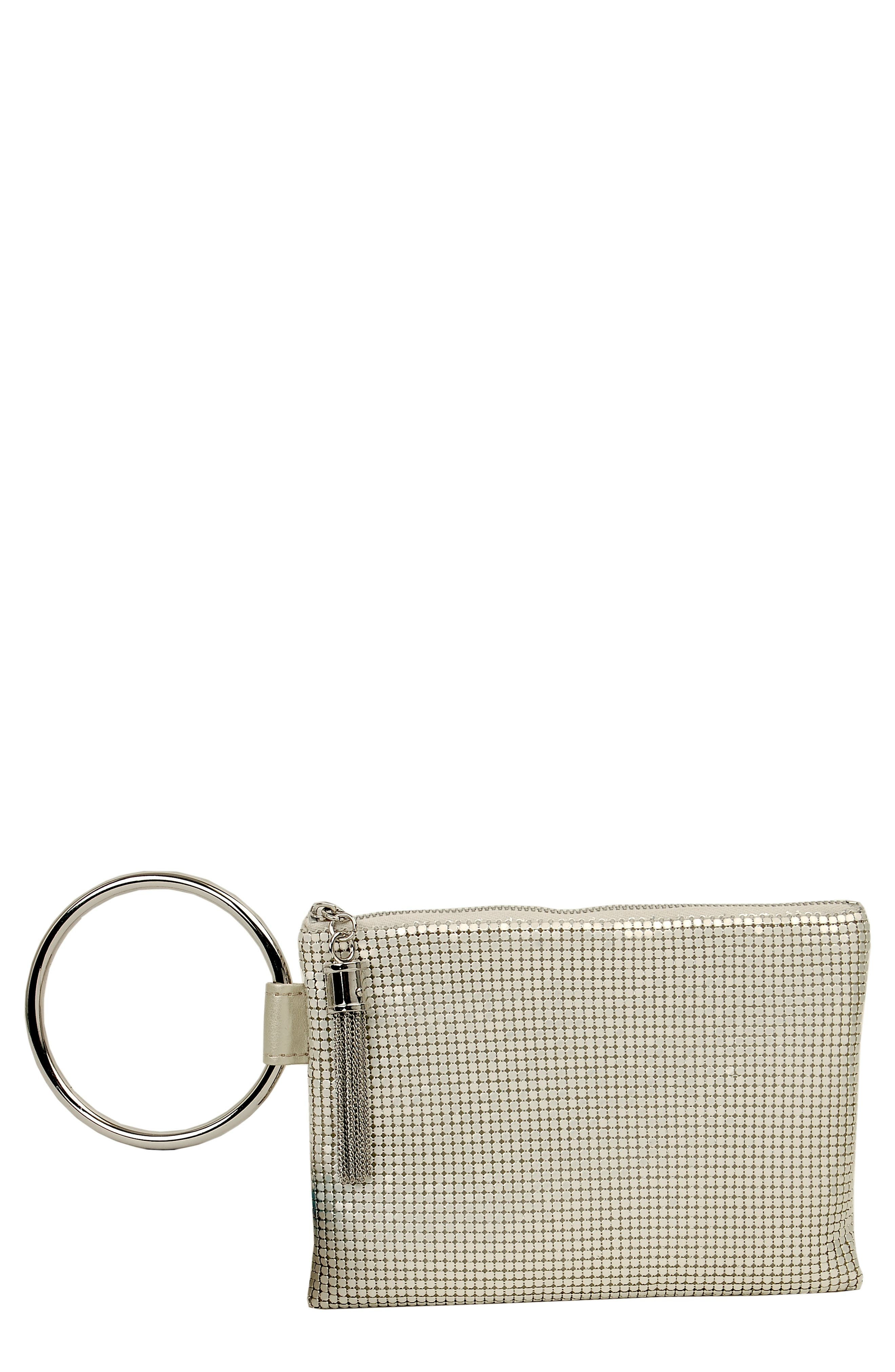 WHITING & DAVIS Bangle Wristlet - Ivory in Pearl