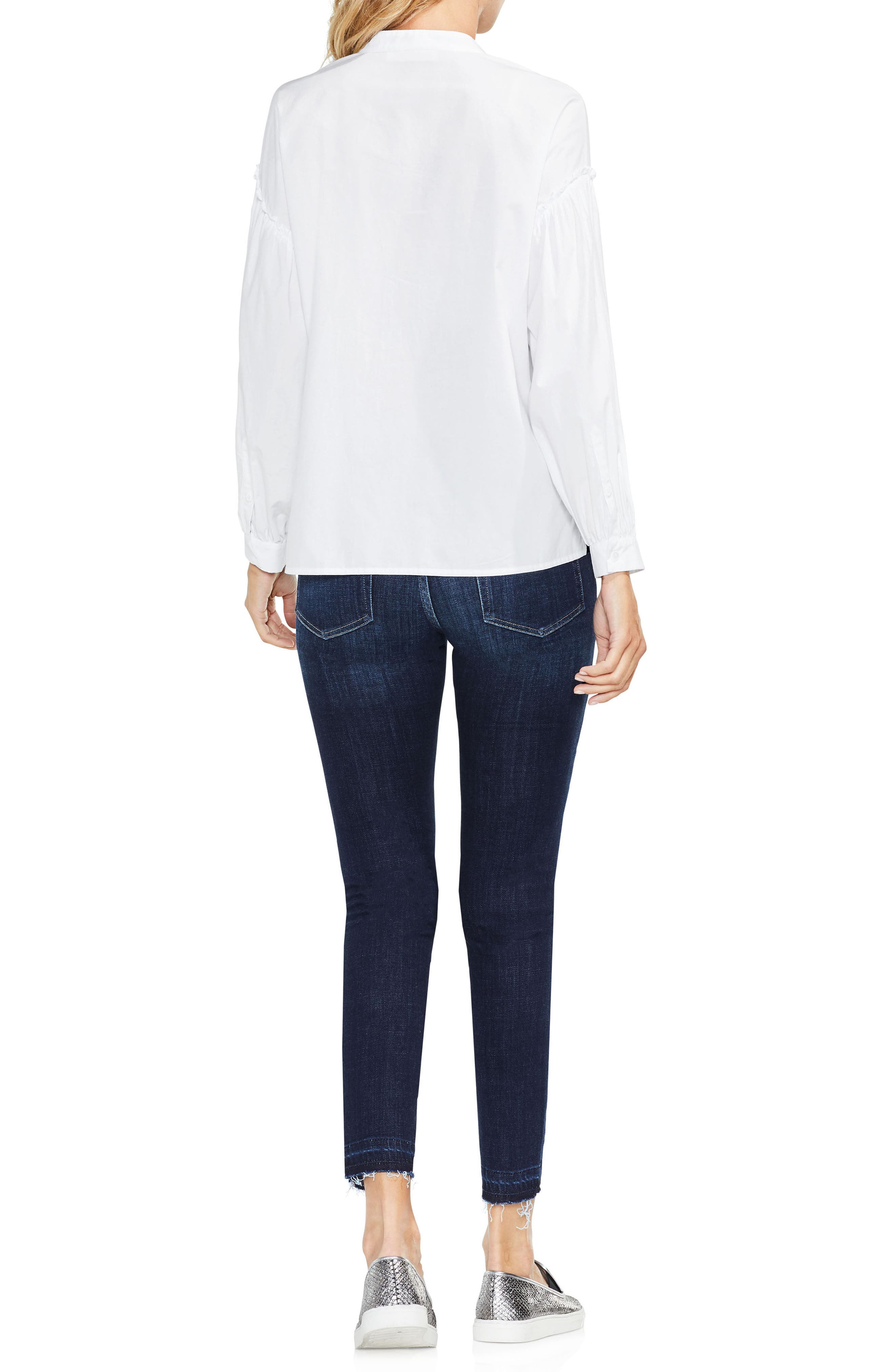 Embroidered Poplin Blouse,                             Alternate thumbnail 4, color,