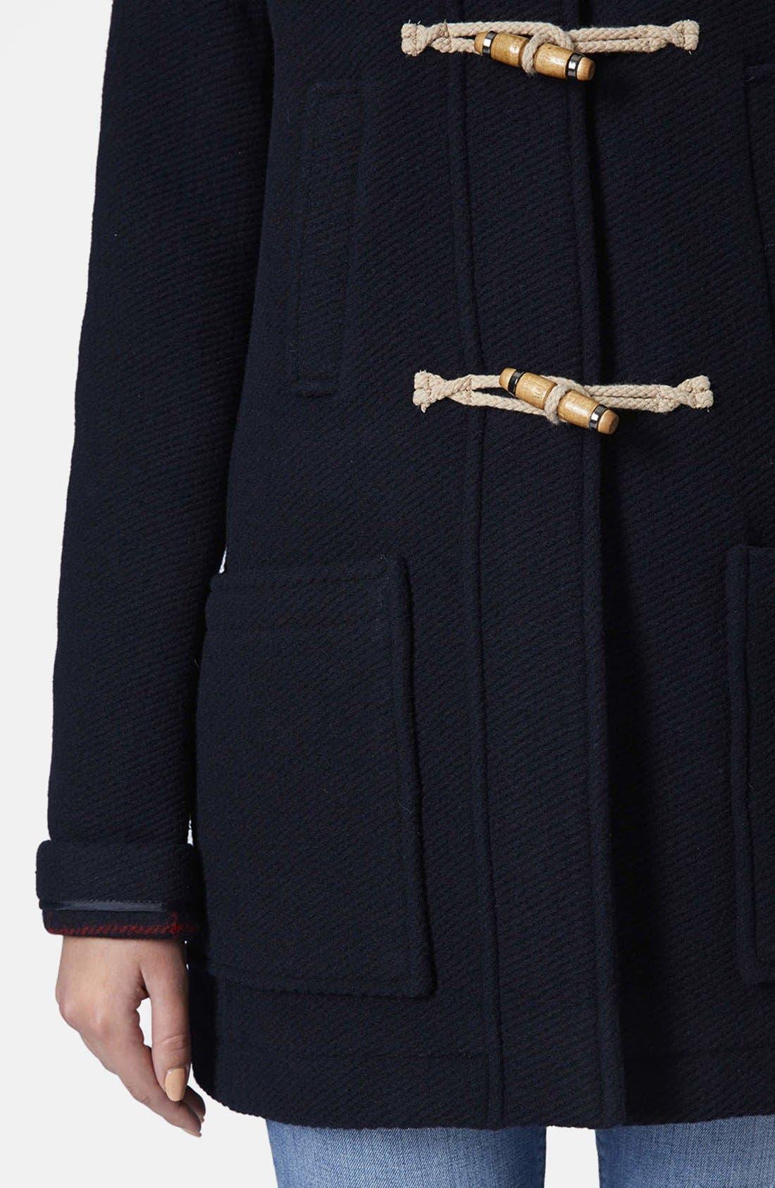 Hooded Duffle Coat,                             Alternate thumbnail 3, color,                             410