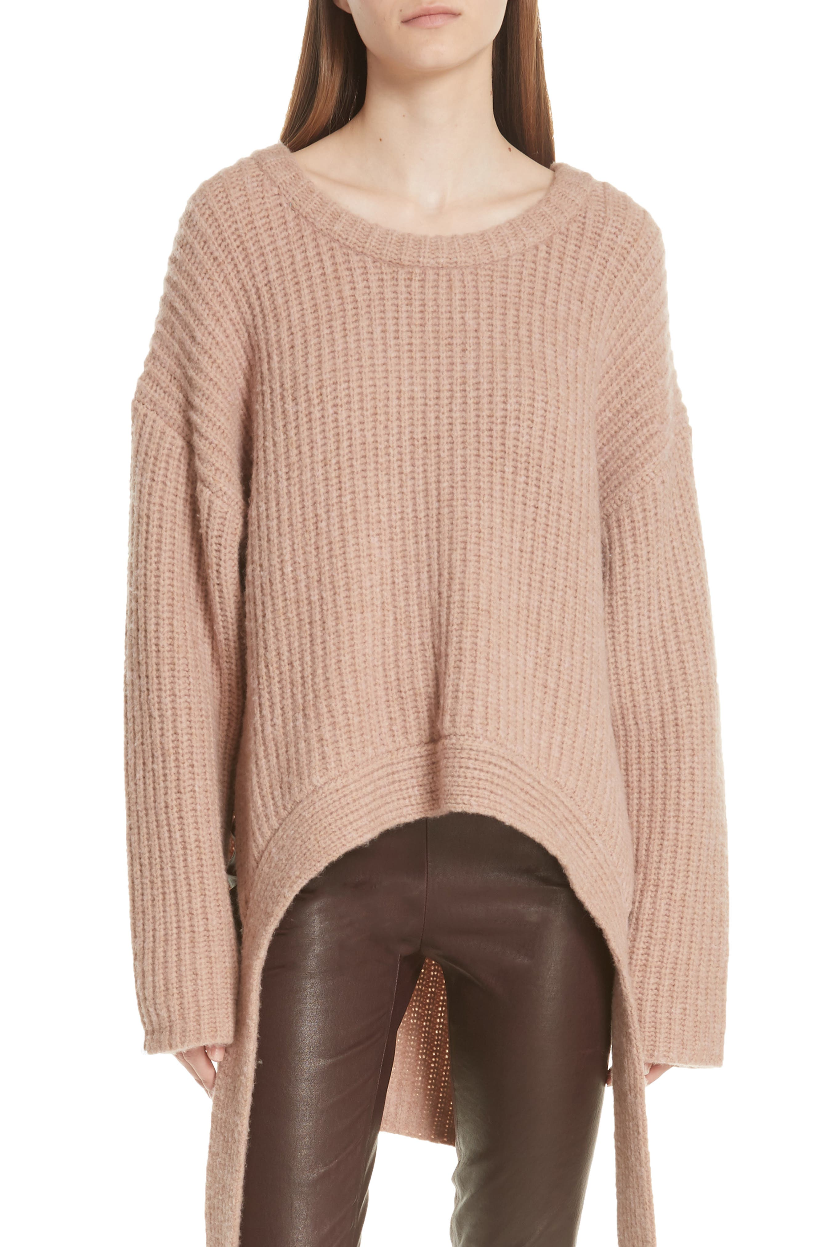 GREY JASON WU Olympia Merino Wool Blend Sweater in Oleander Olndr