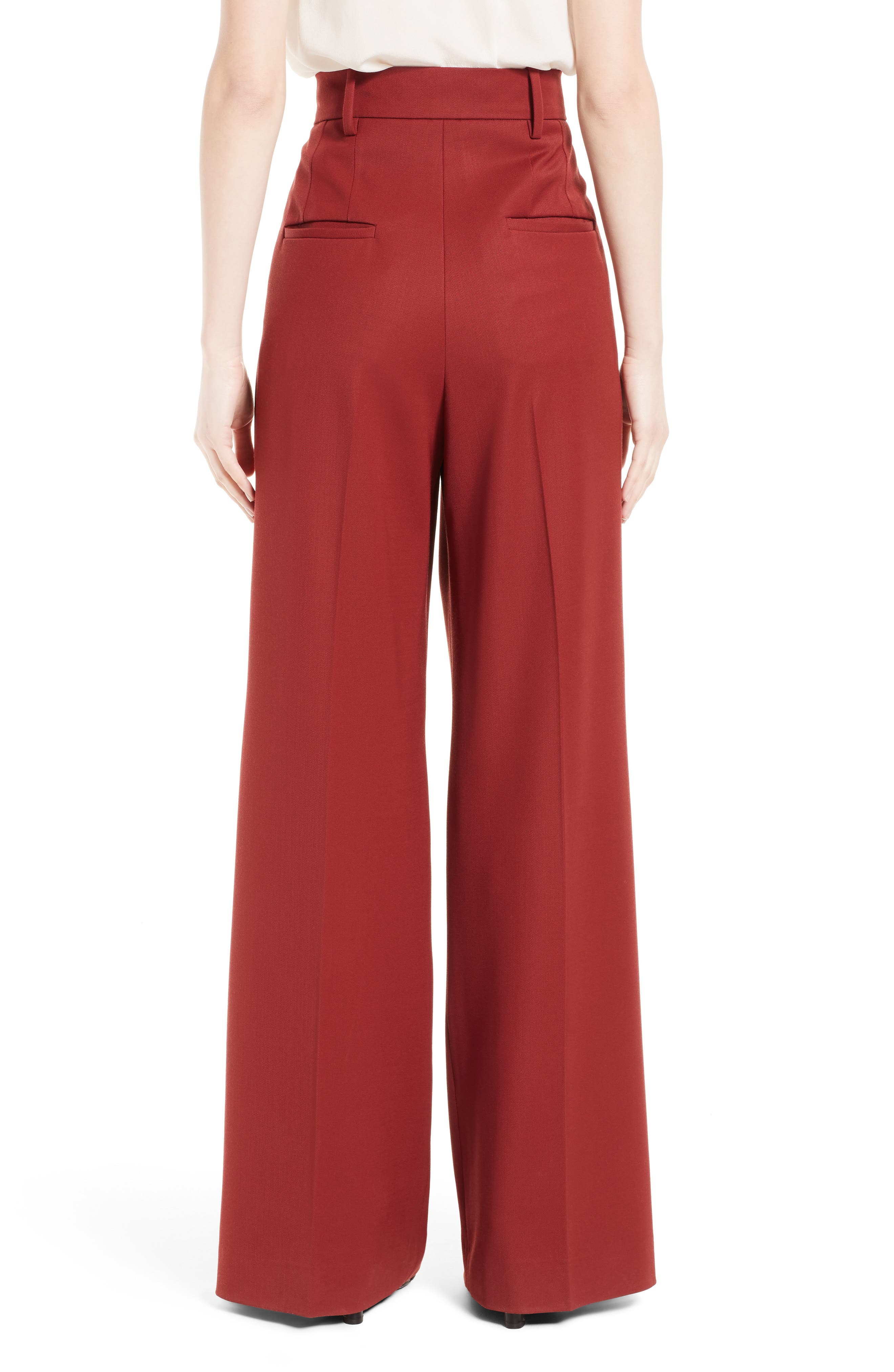 Stretch Wool Wide Leg Pants,                             Alternate thumbnail 2, color,                             930