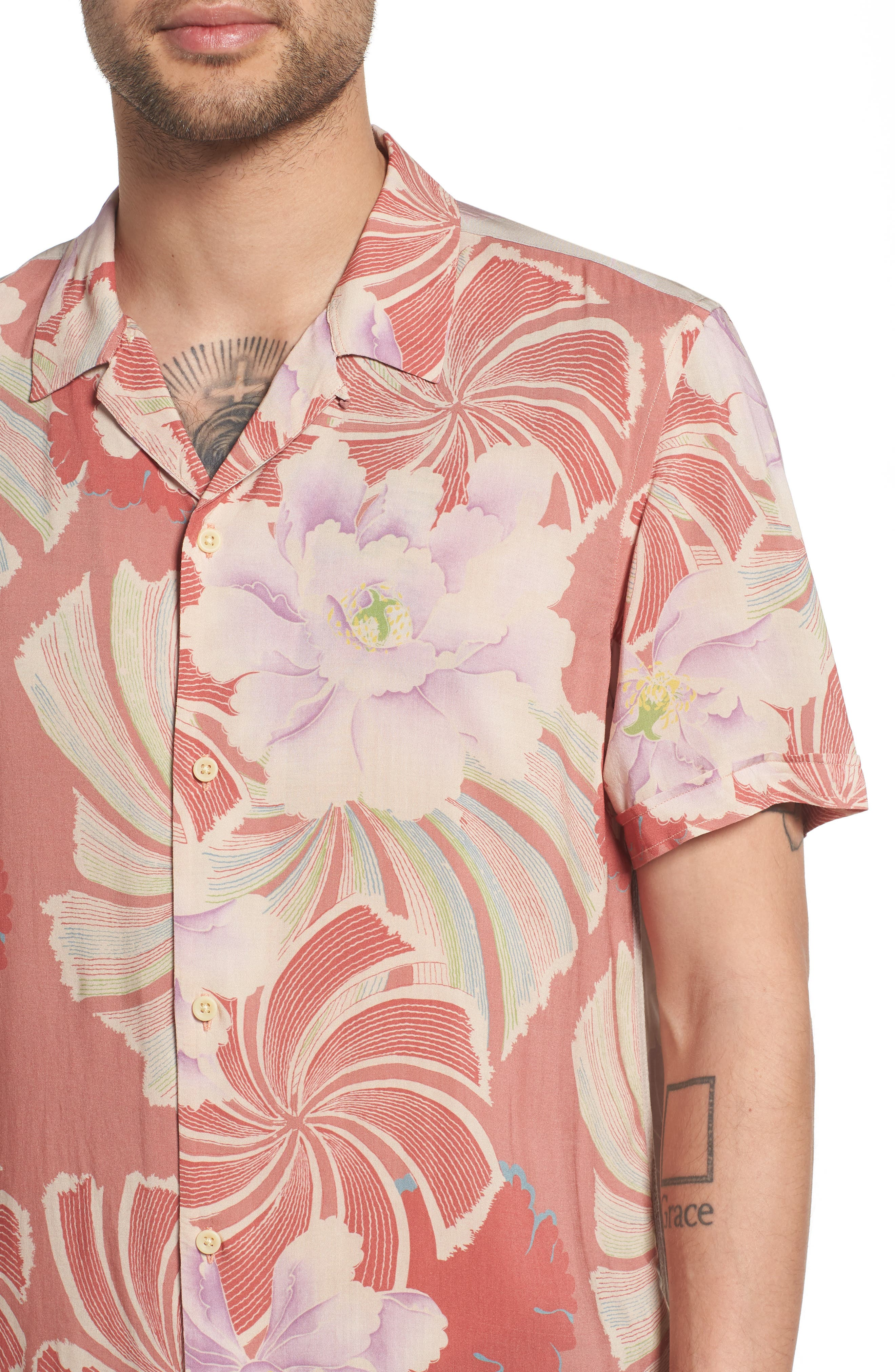 Helix Regular Fit Short Sleeve Sport Shirt,                             Alternate thumbnail 4, color,