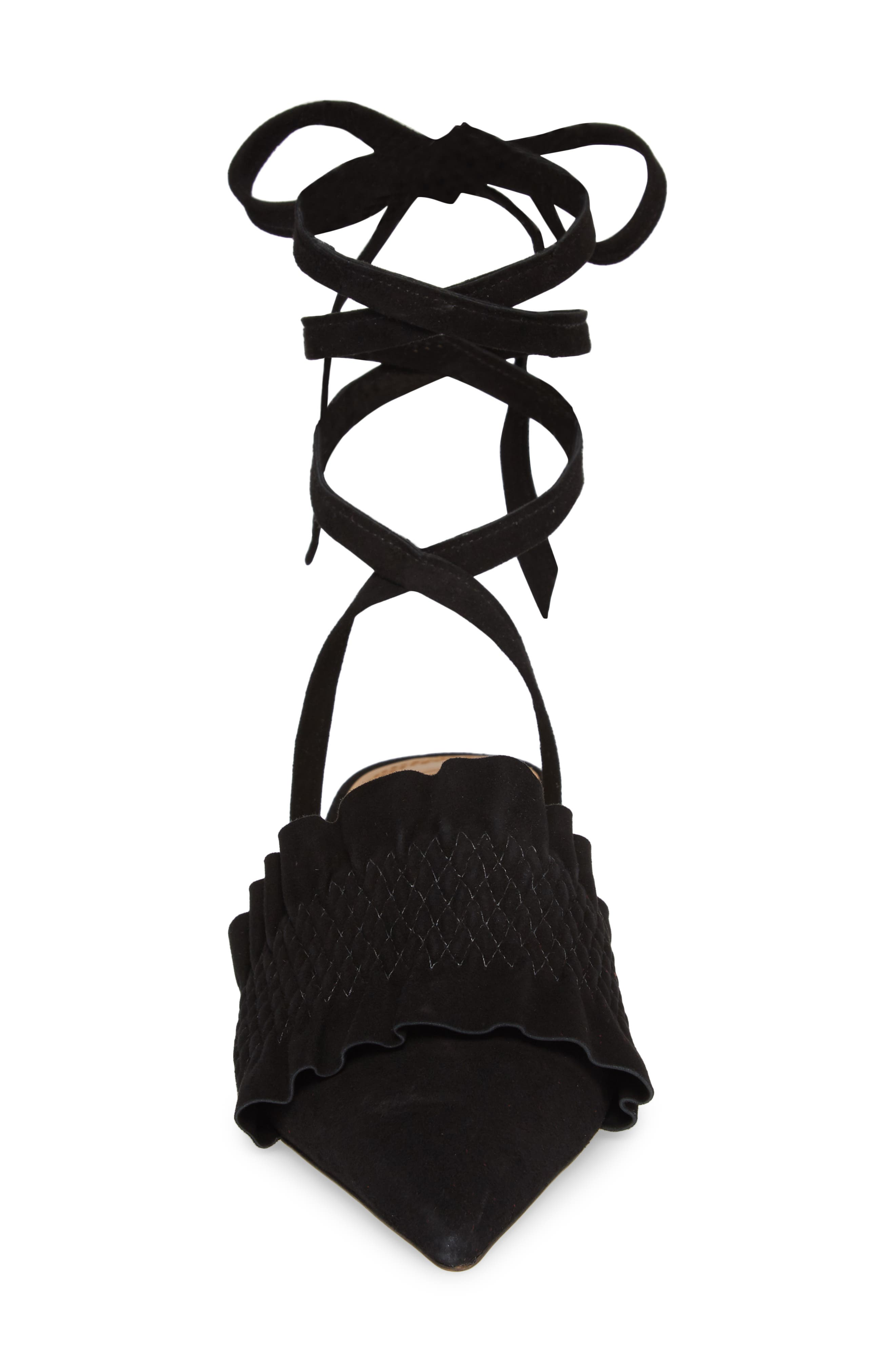 Angelica Ankle Wrap Mule,                             Alternate thumbnail 4, color,                             PERFECT BLACK/ PERFECT BLACK