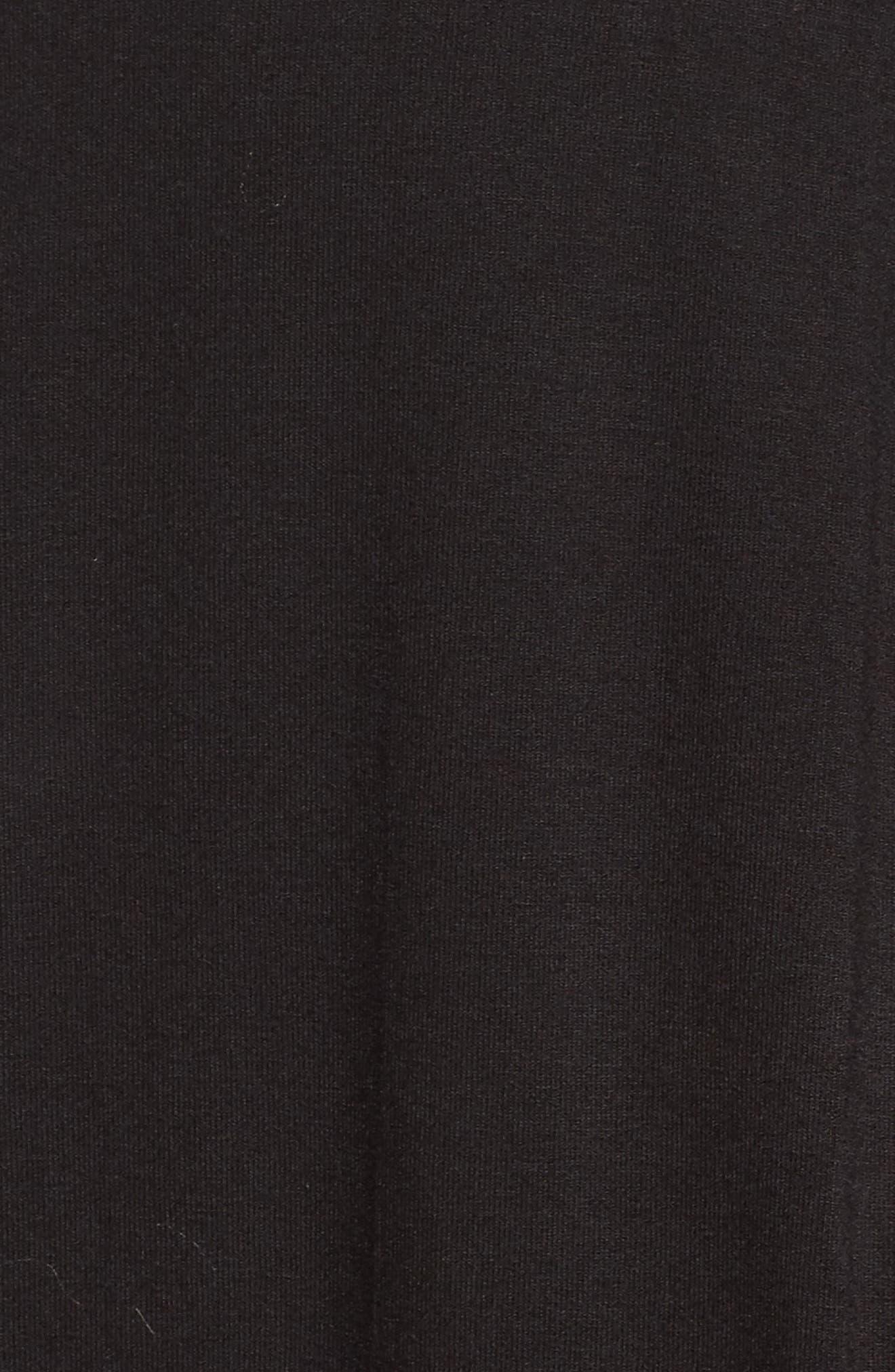 Lace Trim V-Neck Top,                             Alternate thumbnail 5, color,                             002