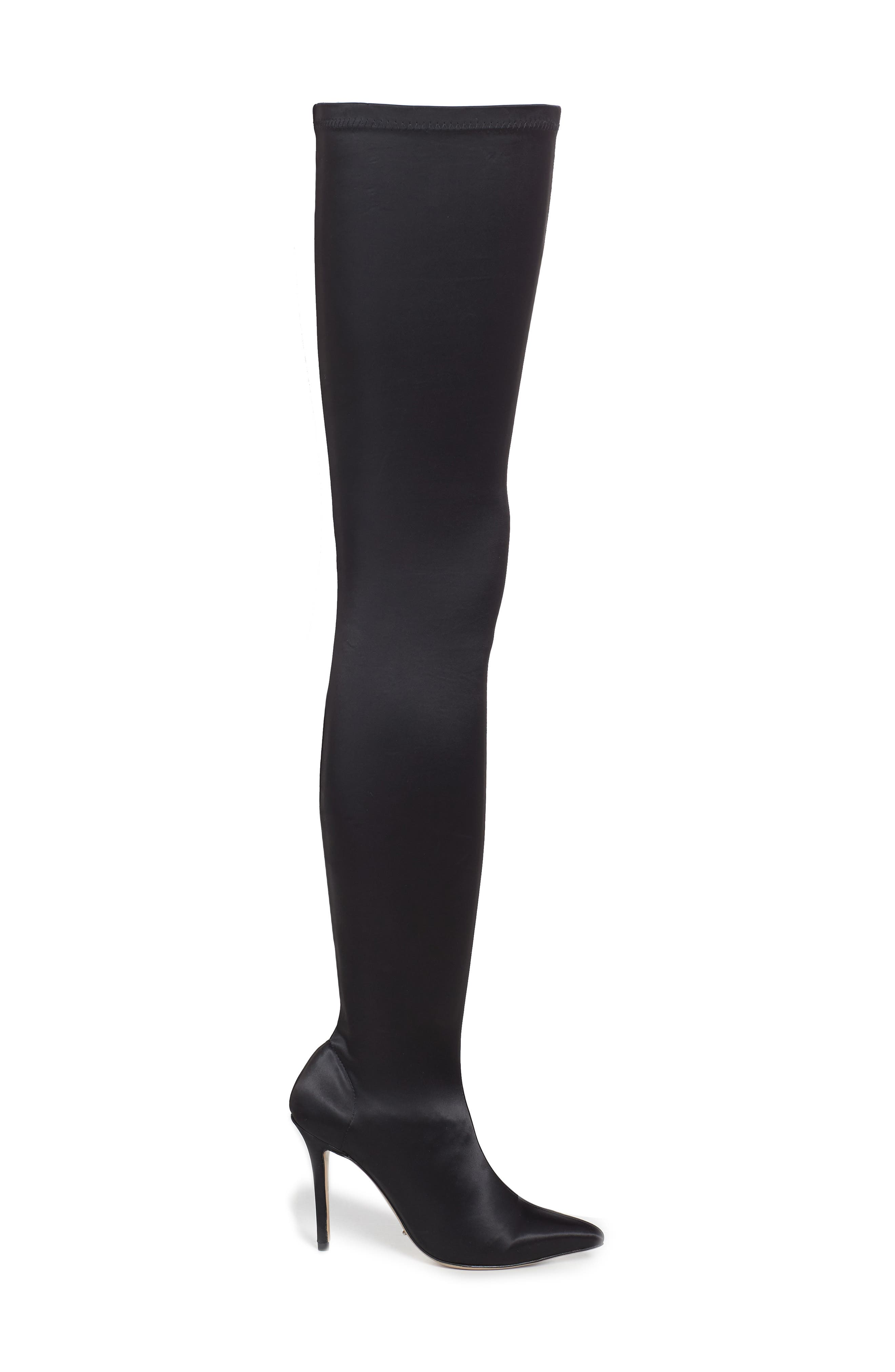 Dene Thigh High Boot,                             Alternate thumbnail 3, color,                             001