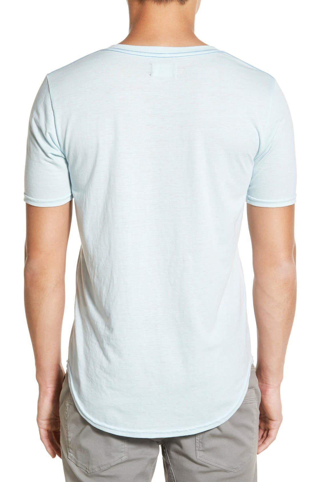 Scallop Triblend V-Neck T-Shirt,                             Alternate thumbnail 43, color,