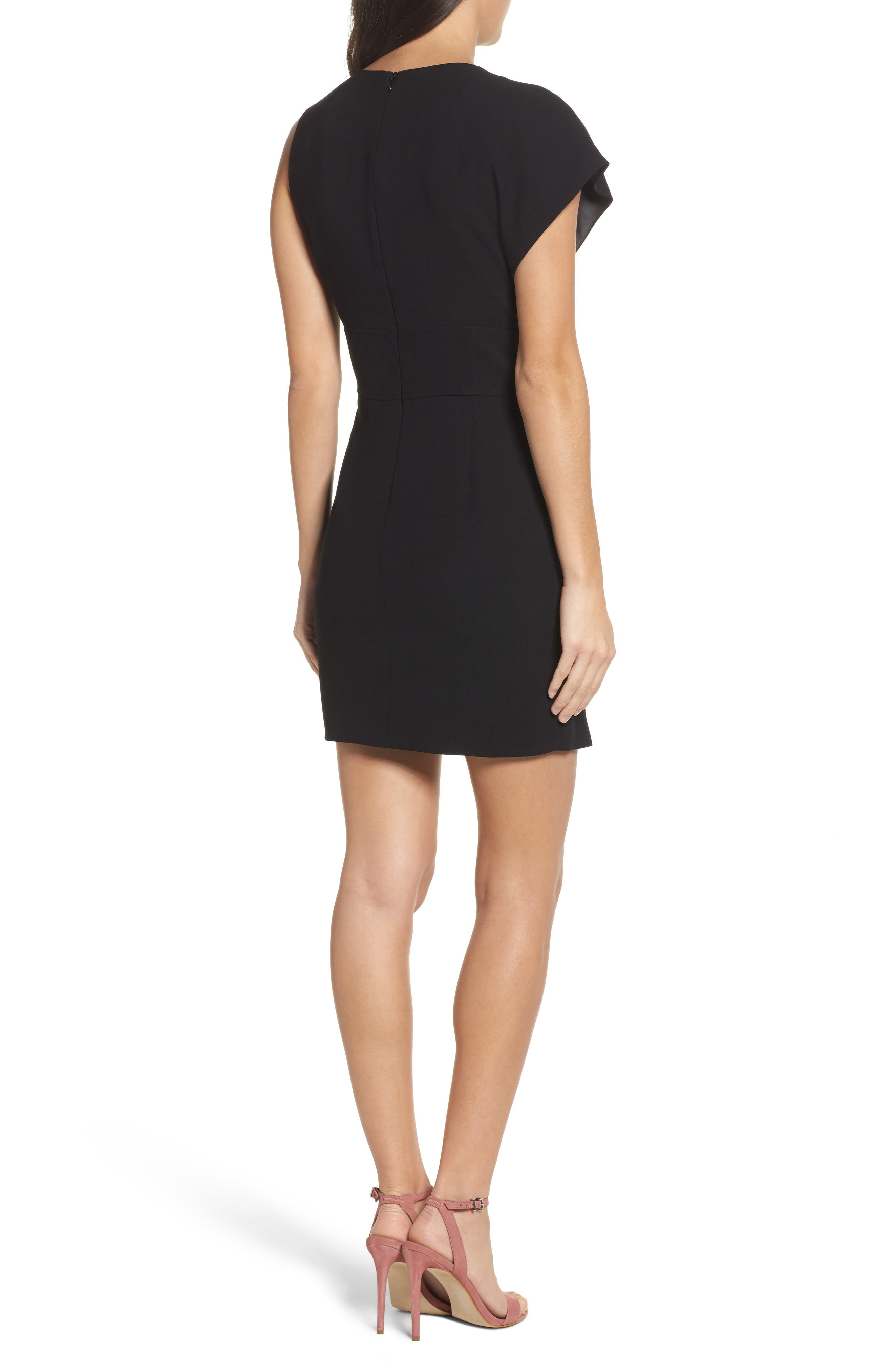Maxwell Asymmetric Faux Wrap Dress,                             Alternate thumbnail 2, color,                             001