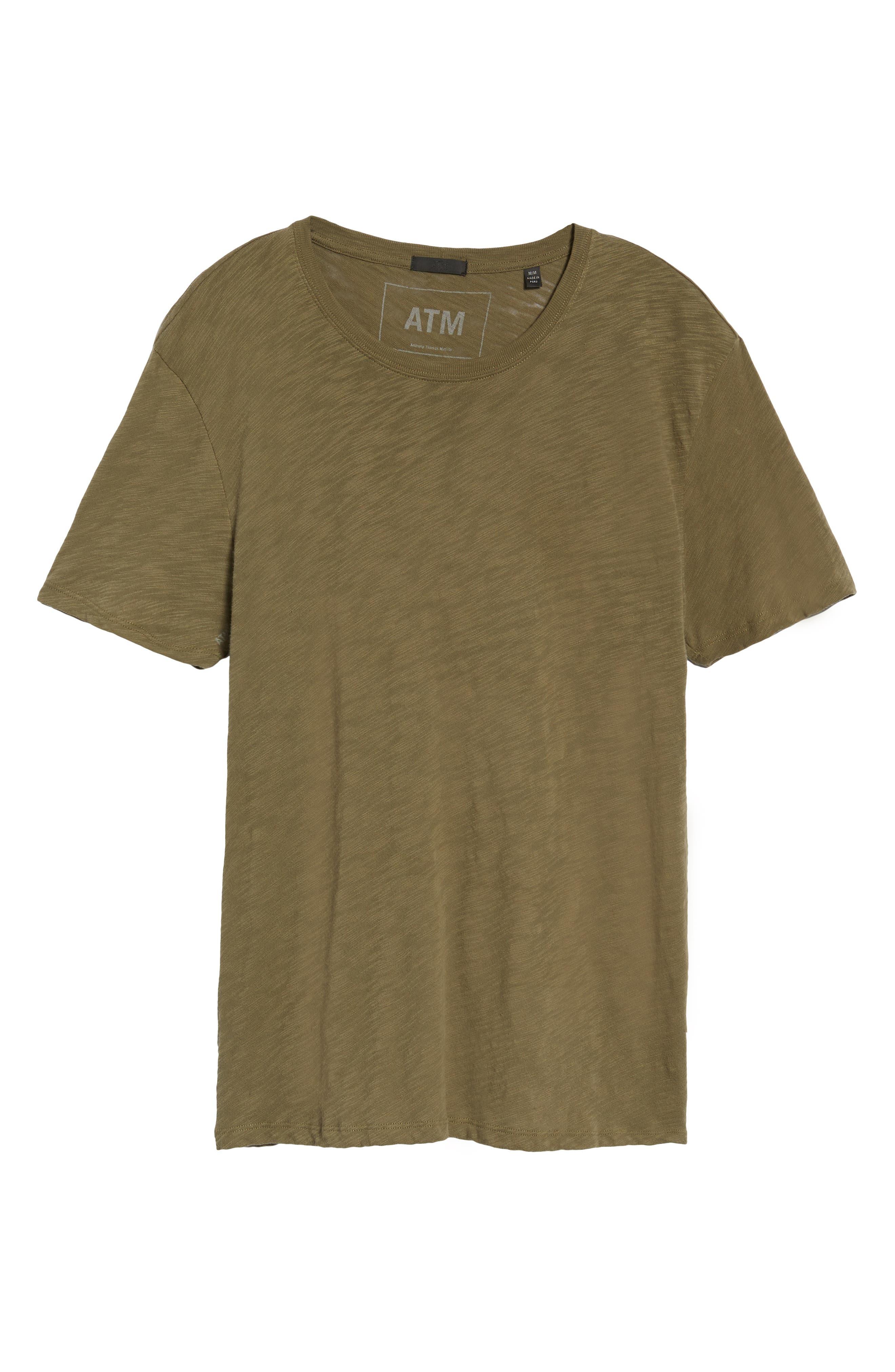 Crewneck T-Shirt,                             Alternate thumbnail 6, color,                             FATIGUE
