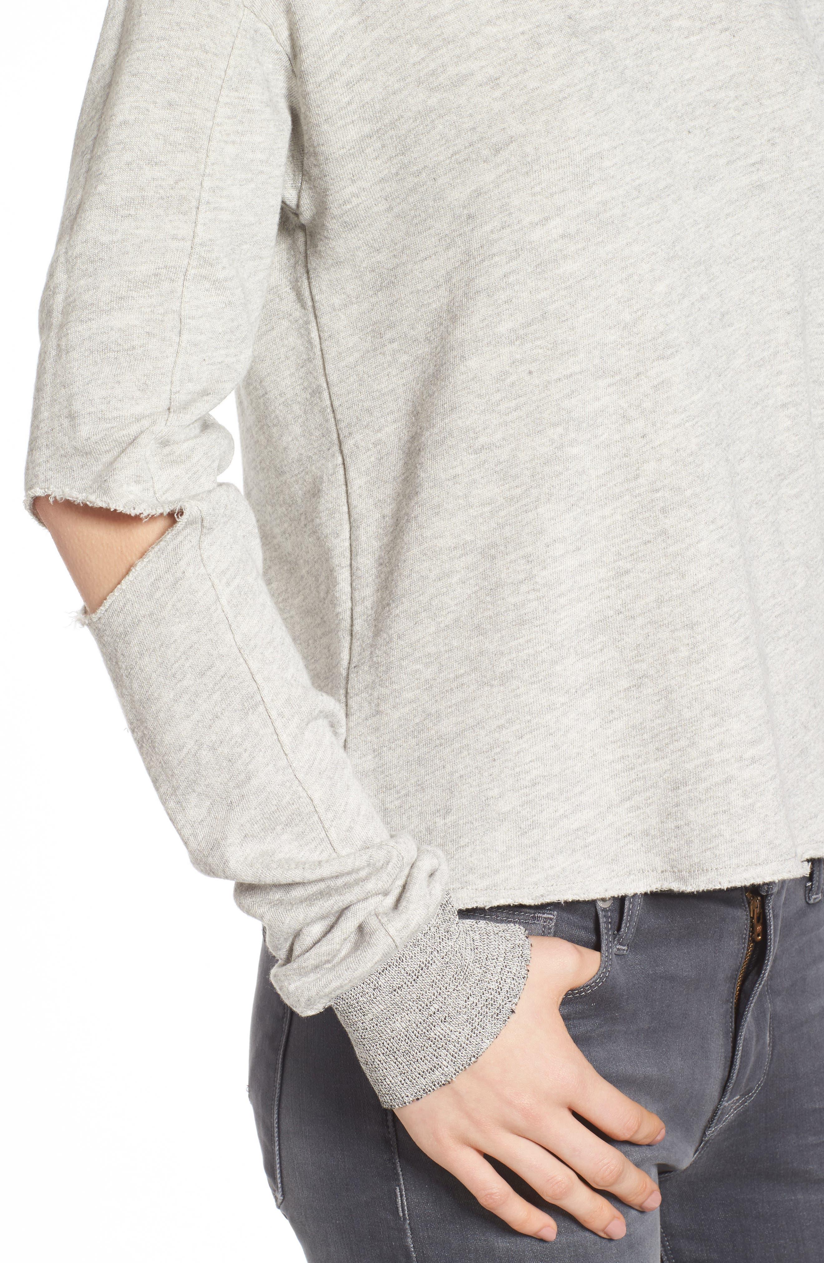 Savannah Cutout Sweatshirt,                             Alternate thumbnail 4, color,                             030
