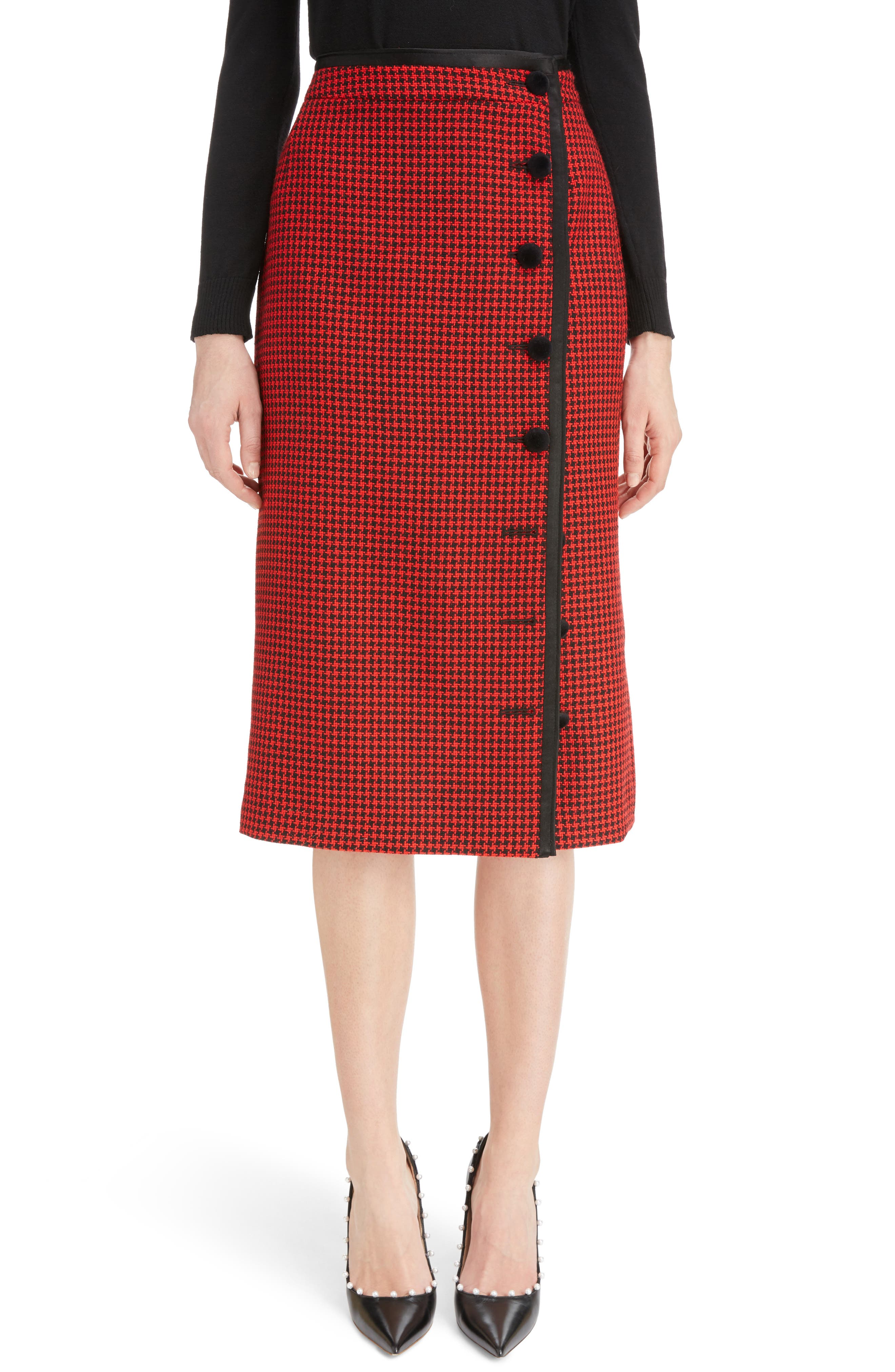 Christofor Houndstooth Wool Skirt,                         Main,                         color, 623