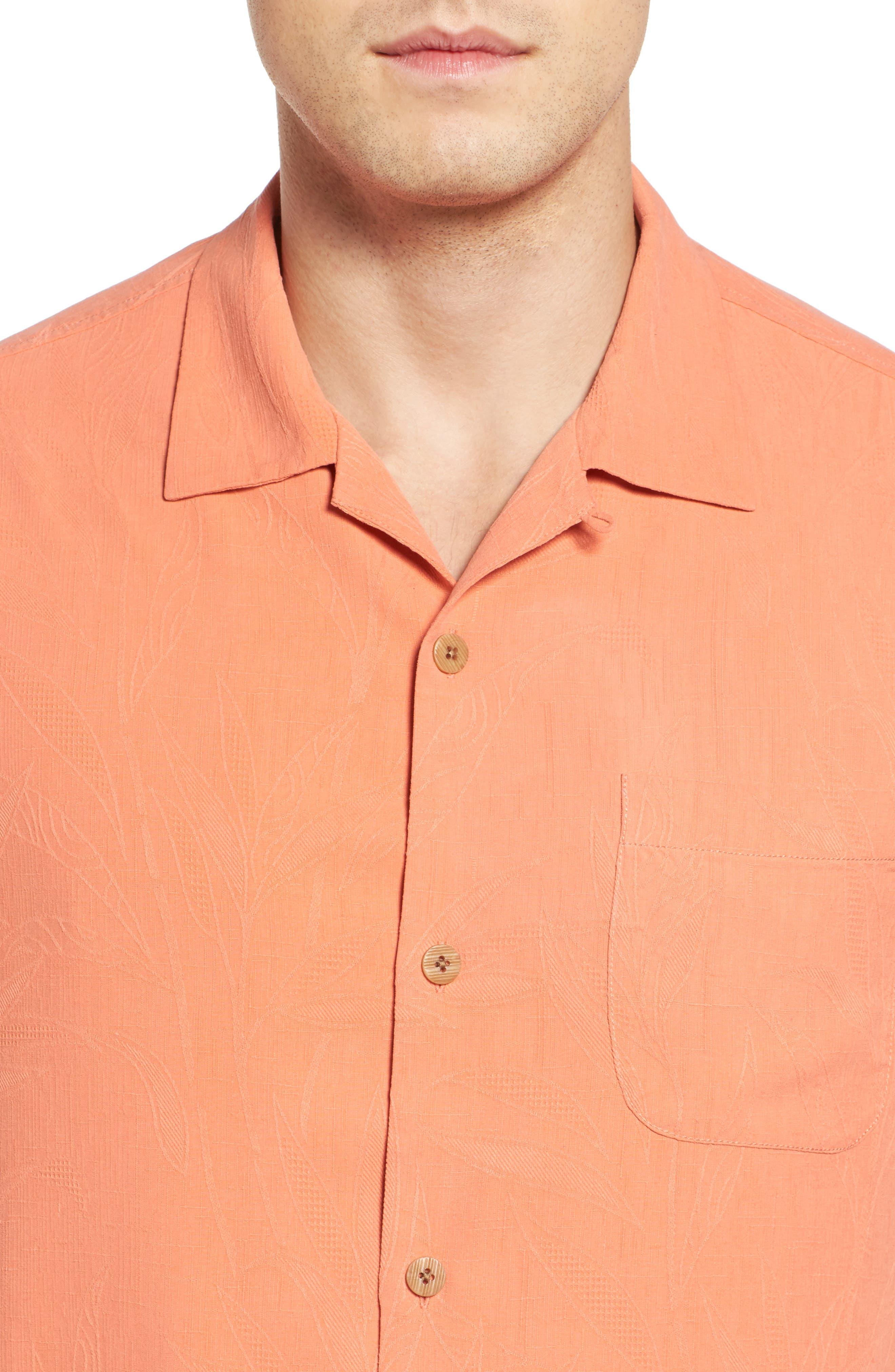 Islander Fronds Silk Camp Shirt,                             Alternate thumbnail 36, color,