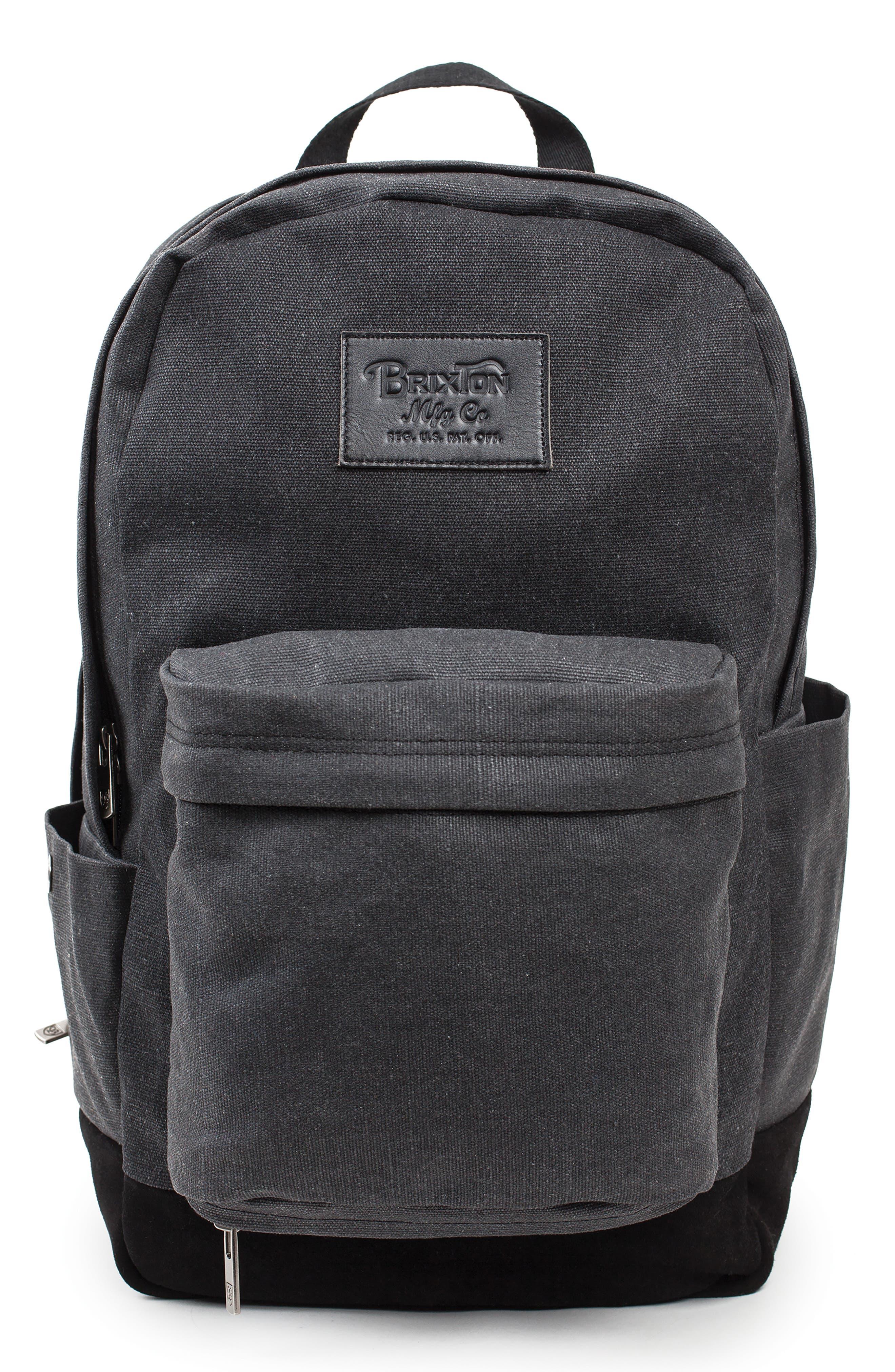 BRIXTON,                             Basin Classic Backpack,                             Main thumbnail 1, color,                             001