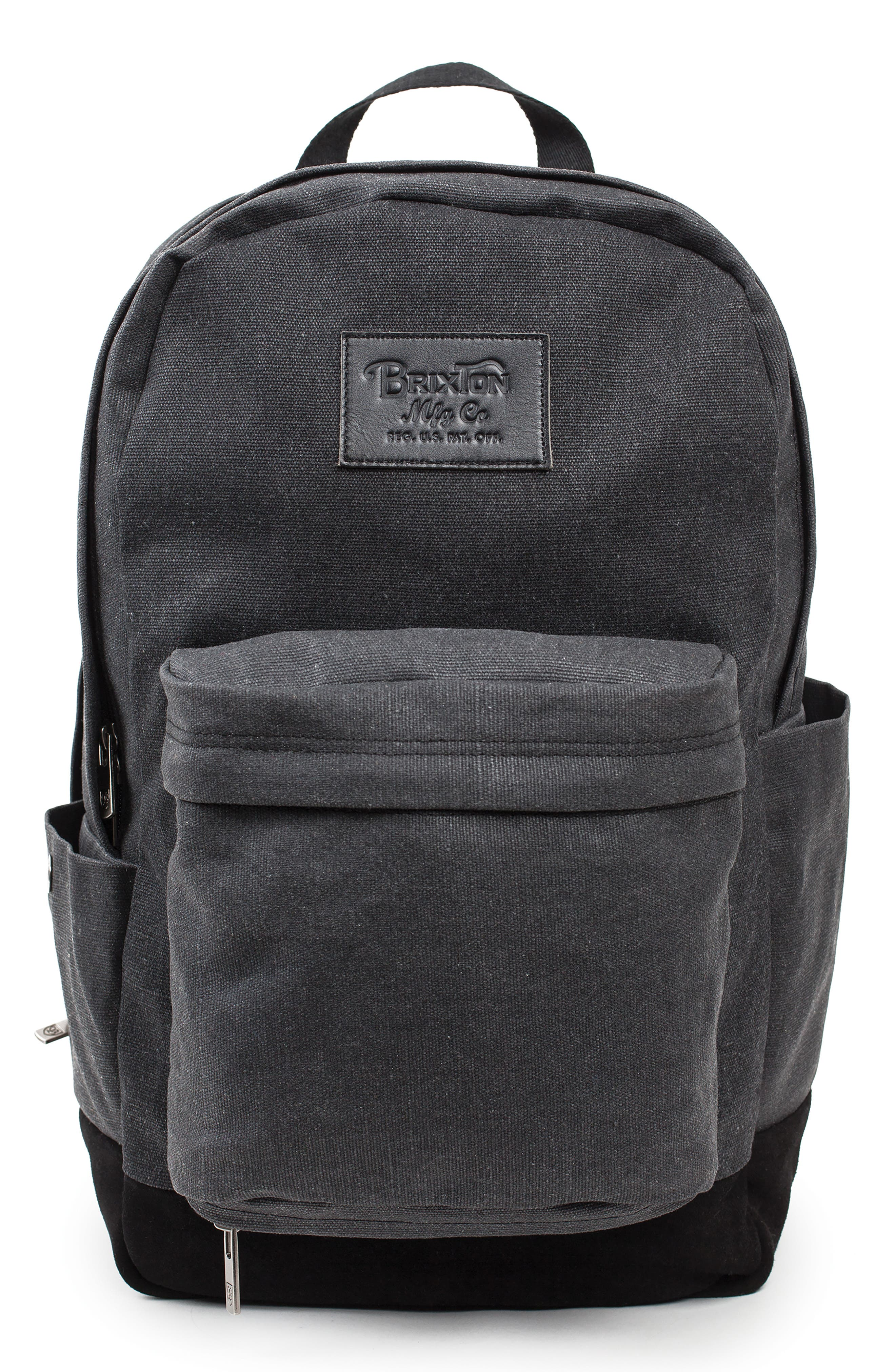 Basin Classic Backpack,                         Main,                         color, BLACK CANVAS