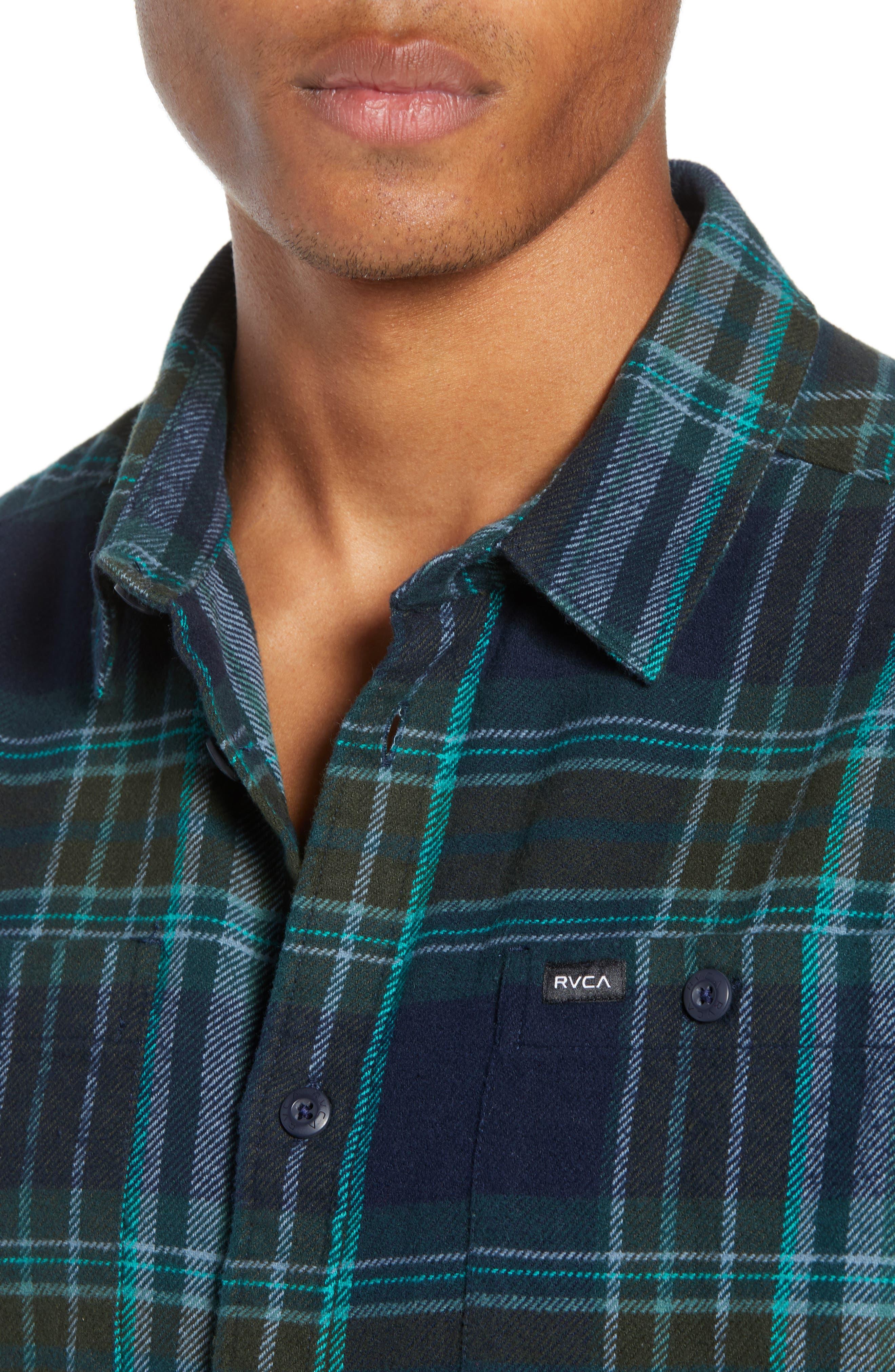 Ludlow Plaid Flannel Shirt,                             Alternate thumbnail 2, color,                             NEW NAVY
