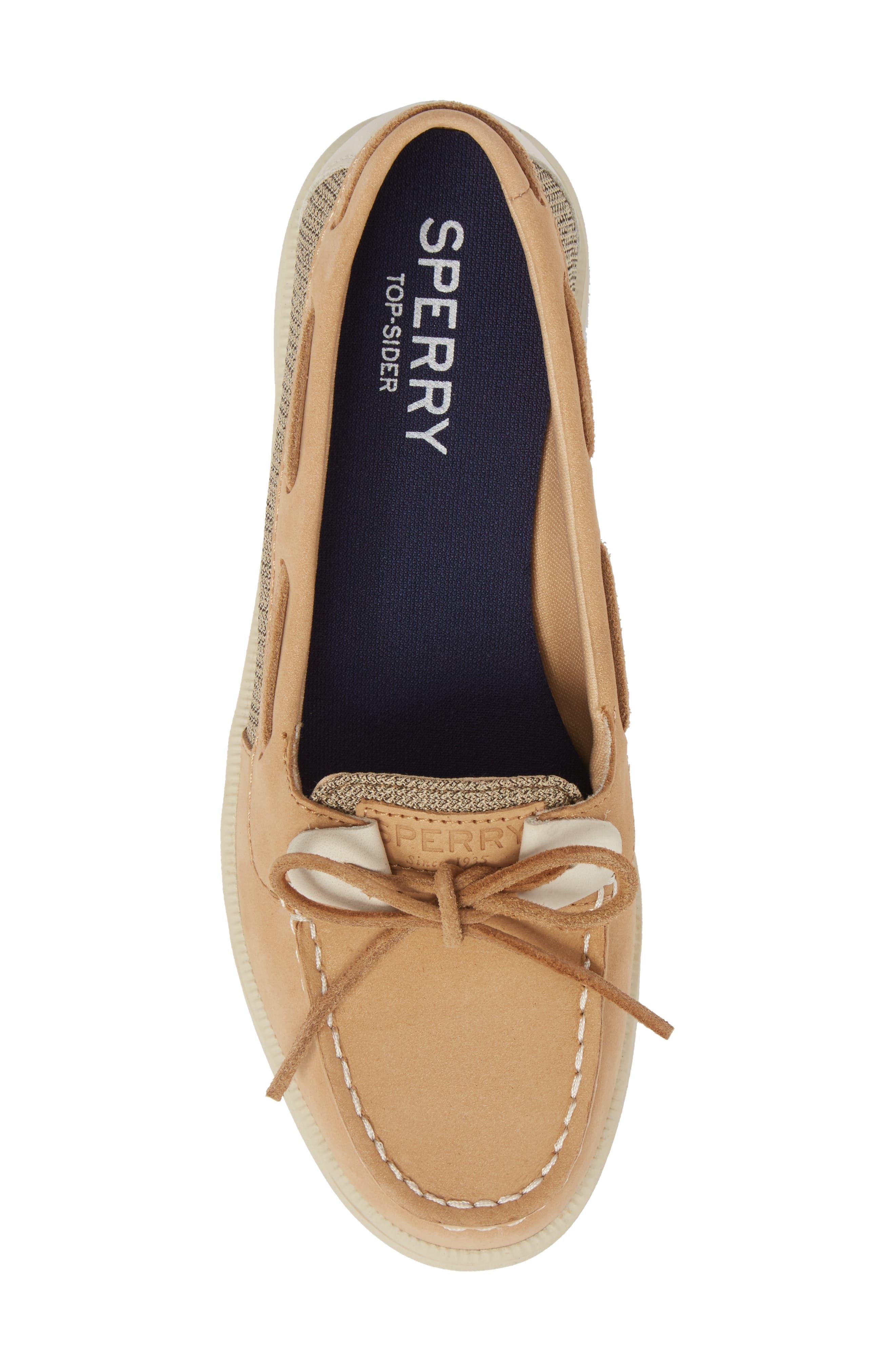 Oasis Boat Shoe,                             Alternate thumbnail 5, color,                             LINEN OAT LEATHER