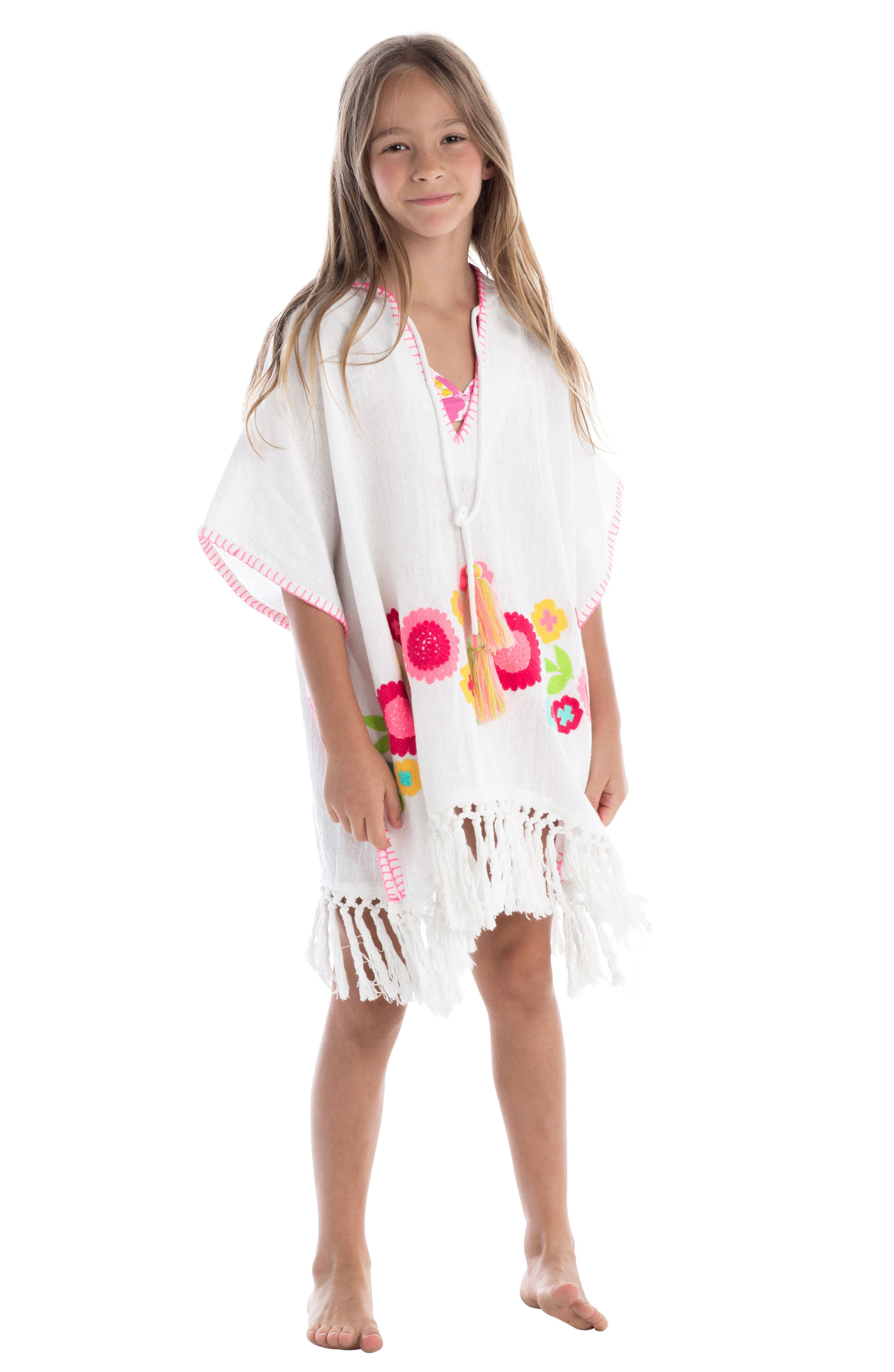 Rambagh Hooded Cover-Up Caftan,                             Alternate thumbnail 2, color,                             100