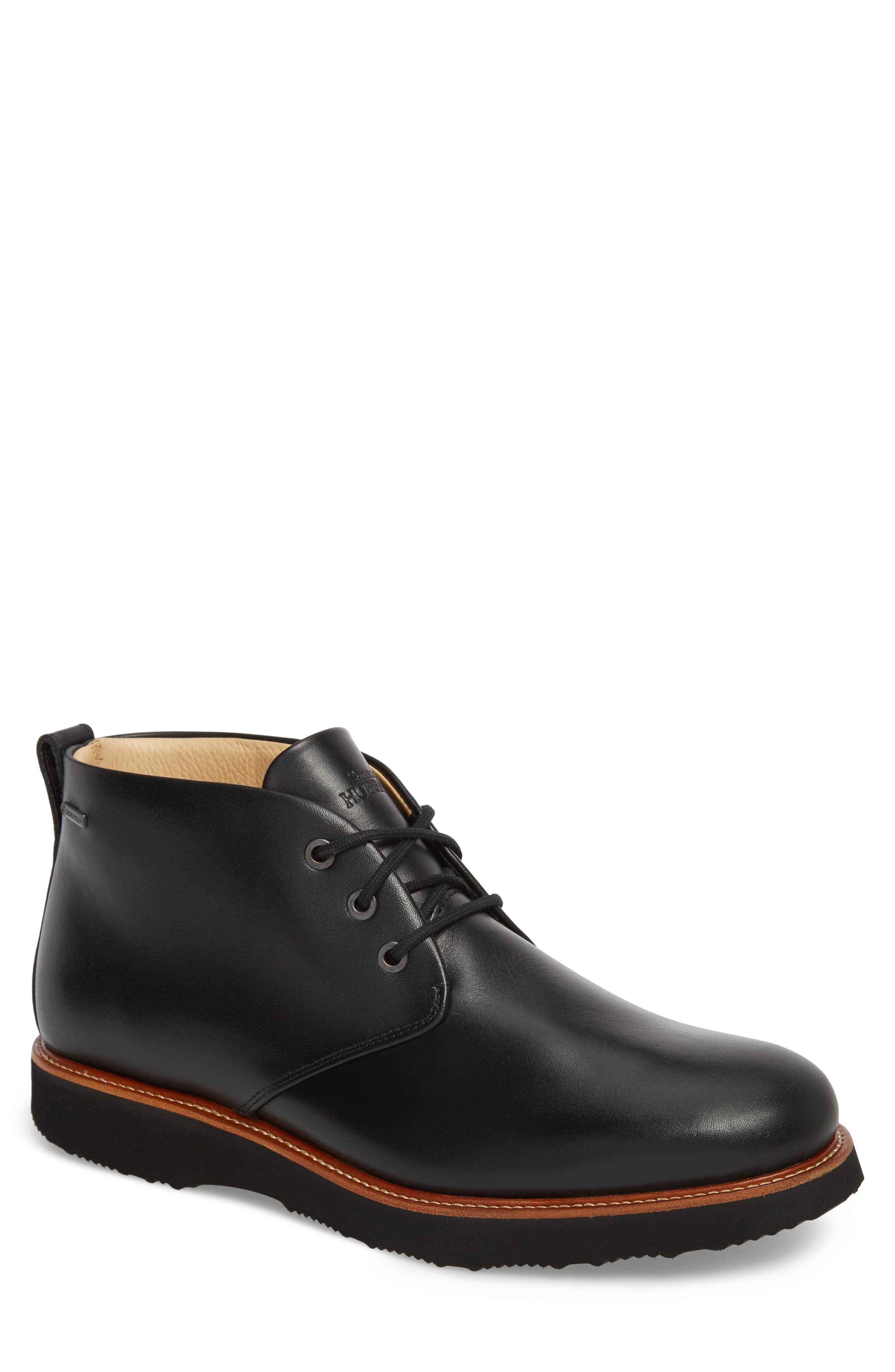 Re-Boot Waterproof Gore-Tex<sup>®</sup> Chukka Boot,                         Main,                         color, BLACK LEATHER