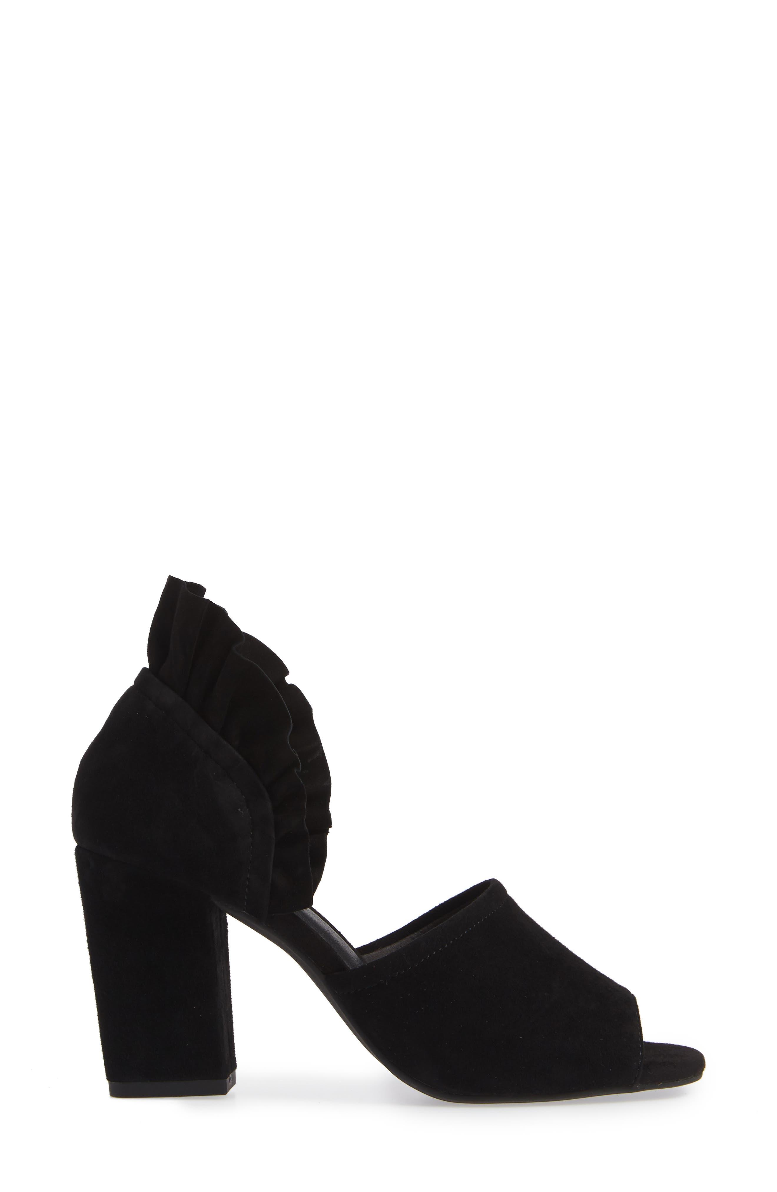 Tropical Sandal,                             Alternate thumbnail 3, color,                             BLACK SUEDE