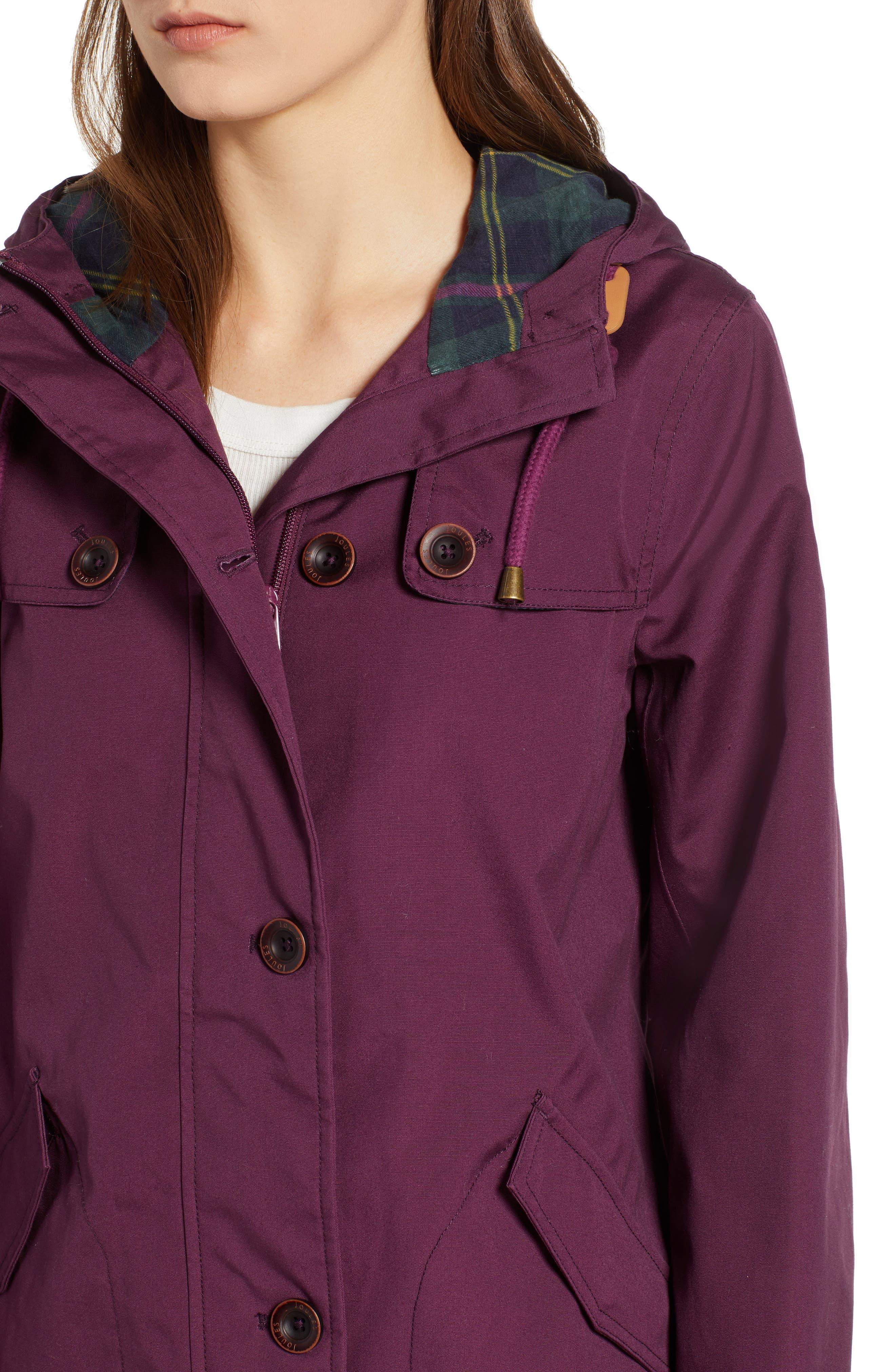 JOULES,                             Right as Rain Waterproof Hooded Jacket,                             Alternate thumbnail 4, color,                             930