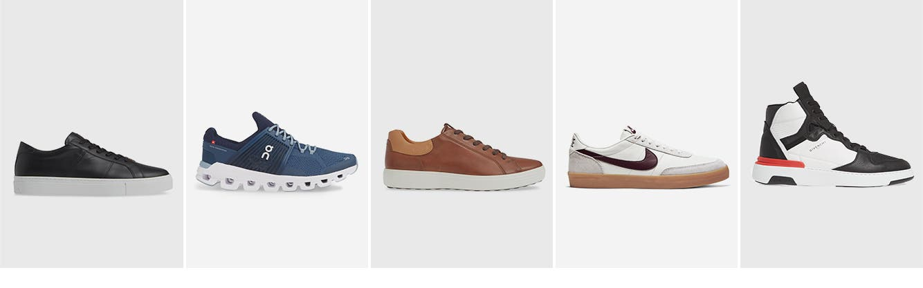 Men's sneakers and athletic shoes.