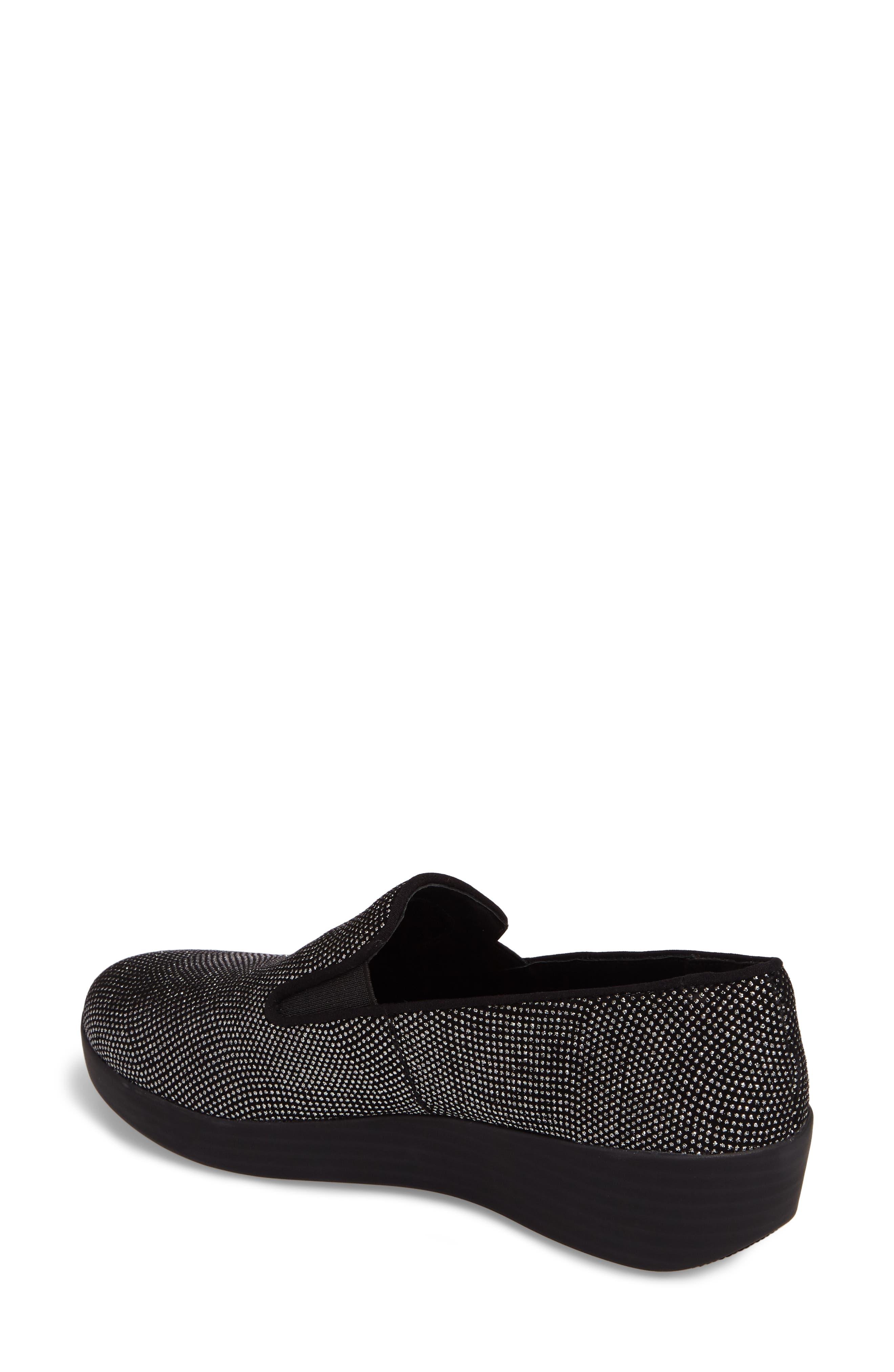 Superskate Glitter Dot Slip-On Sneaker,                             Alternate thumbnail 2, color,                             001