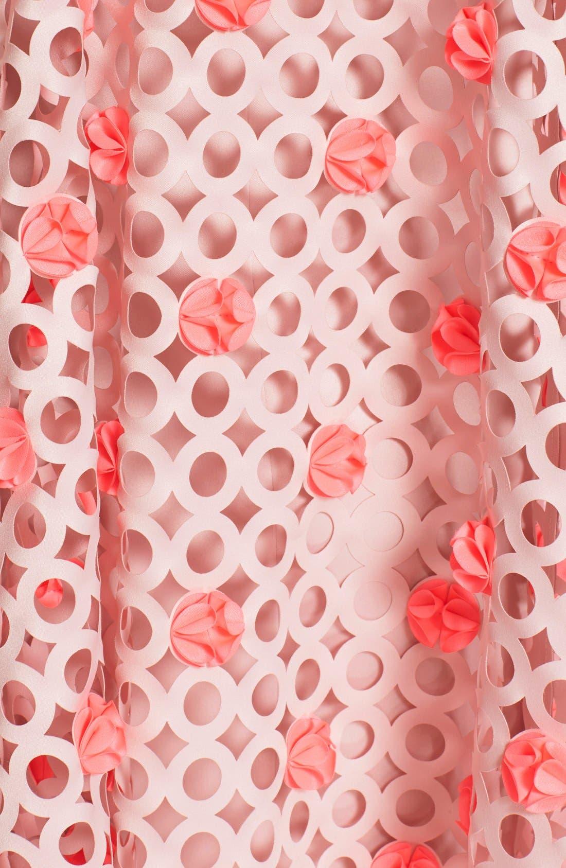 Laser Cut Trapeze Dress,                             Alternate thumbnail 4, color,                             680