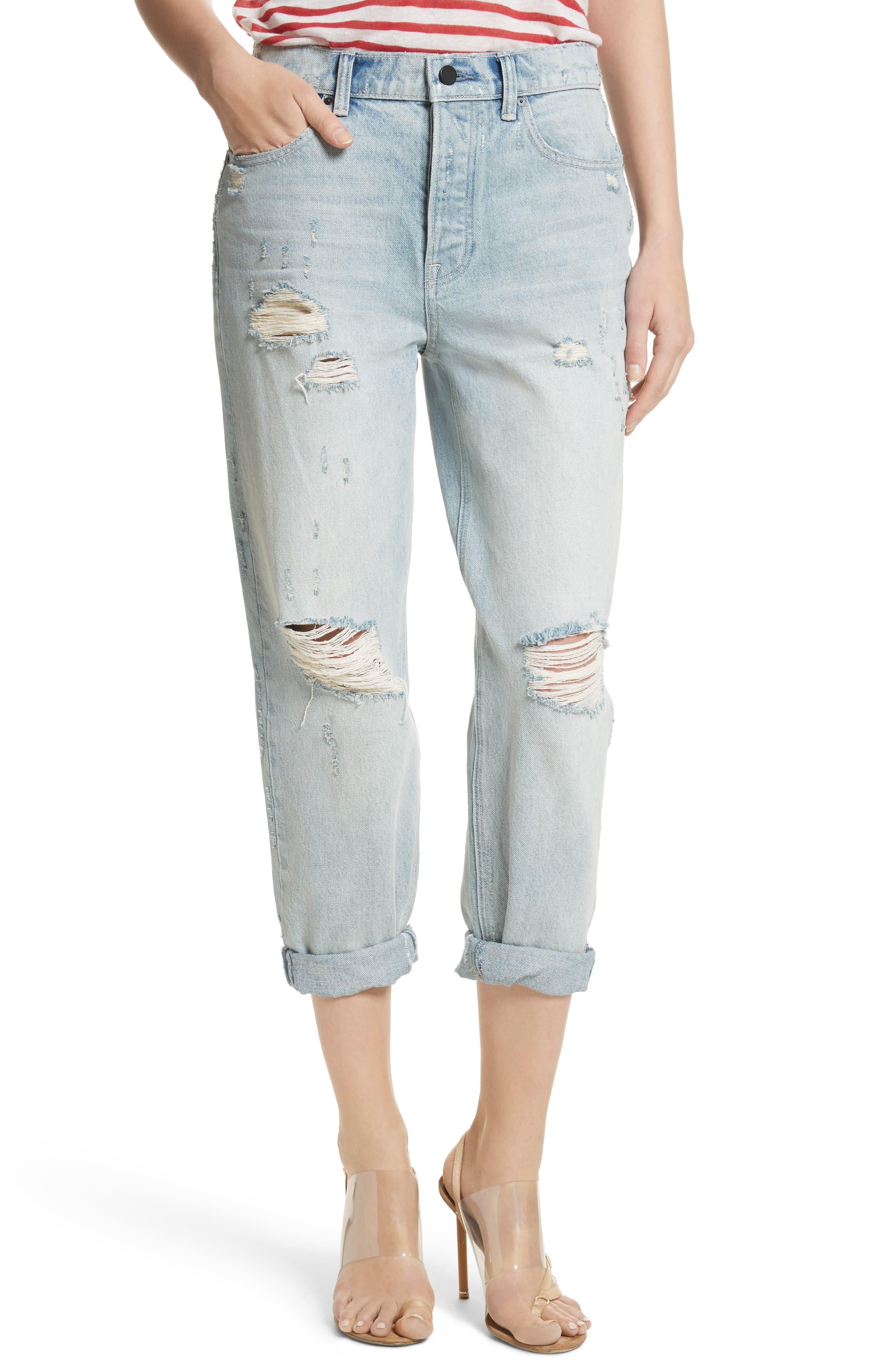 Distressed Boyfriend Jeans,                         Main,                         color,