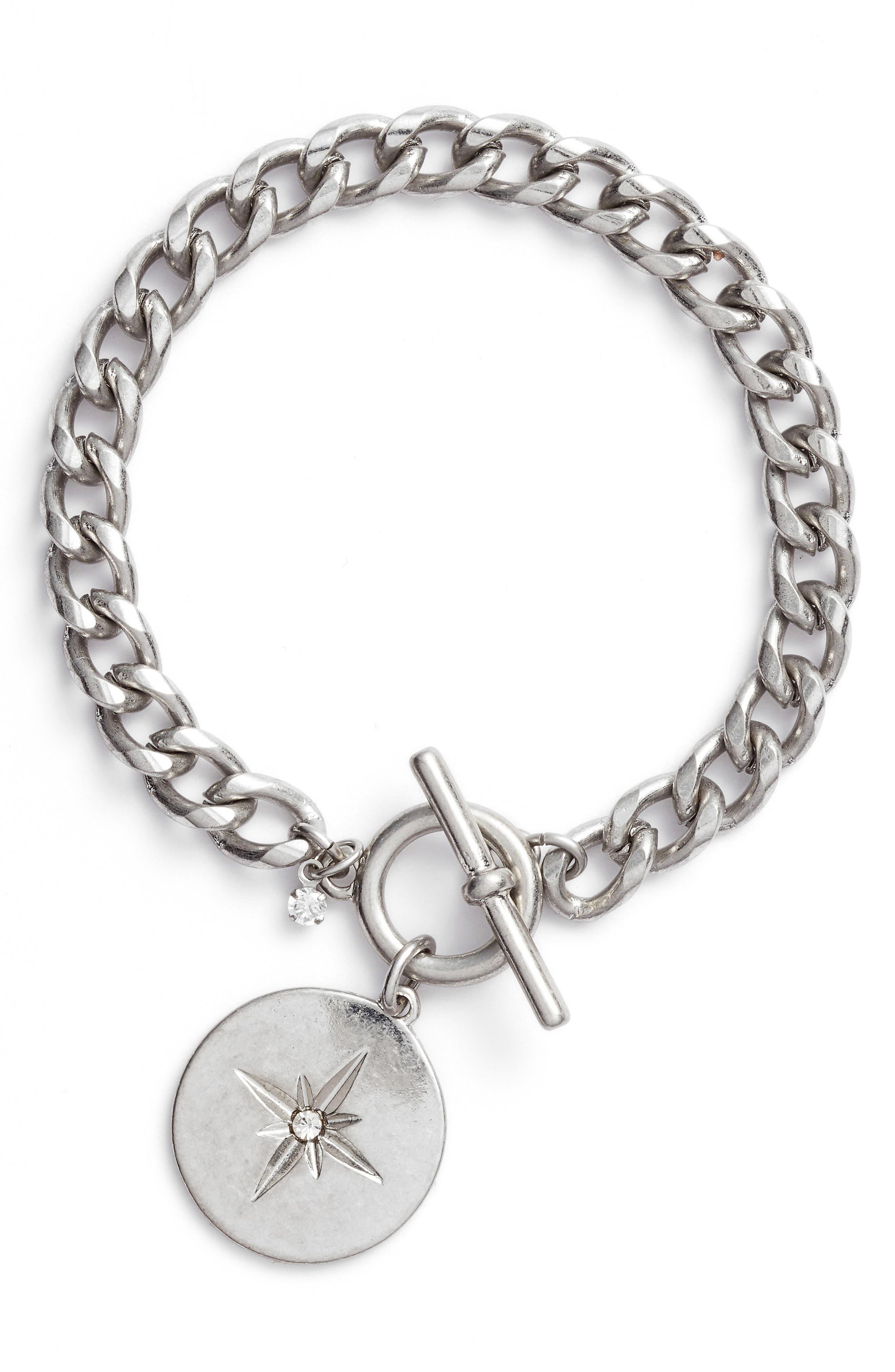 Star Disc Toggle Bracelet,                         Main,                         color, 040