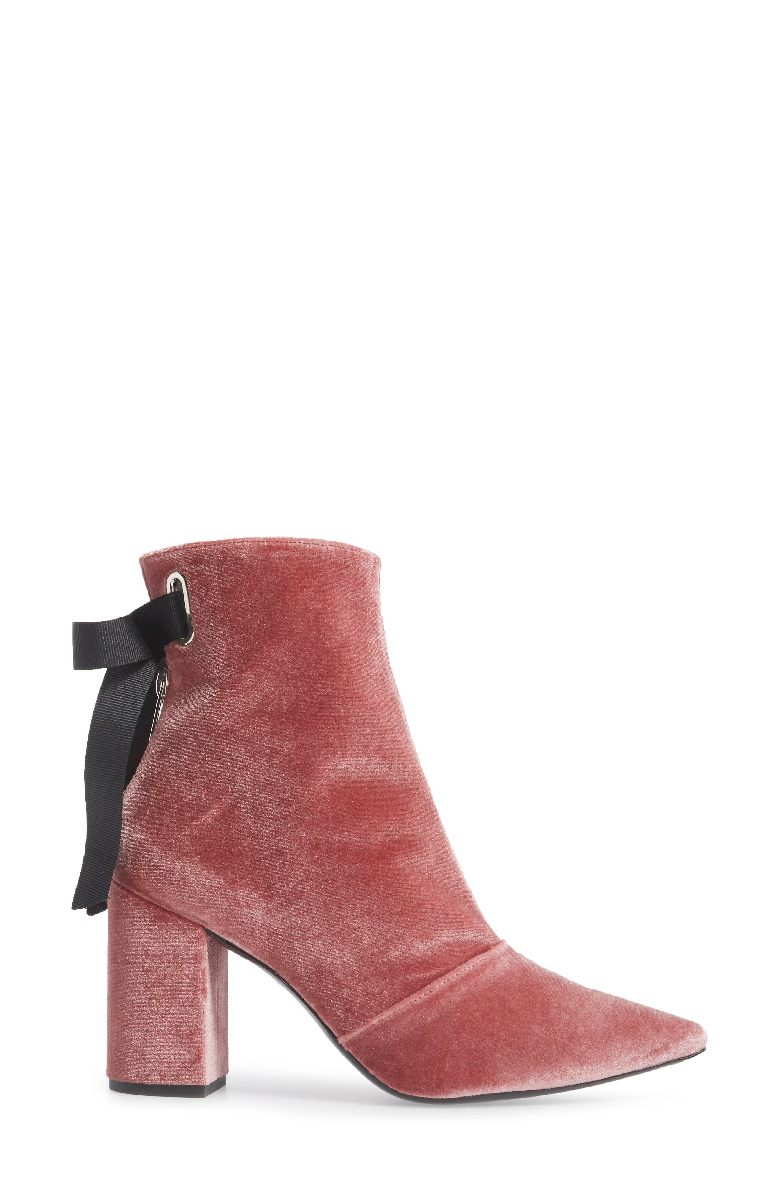 x Self-Portrait Karlit Pointy Toe Bootie,                             Alternate thumbnail 3, color,