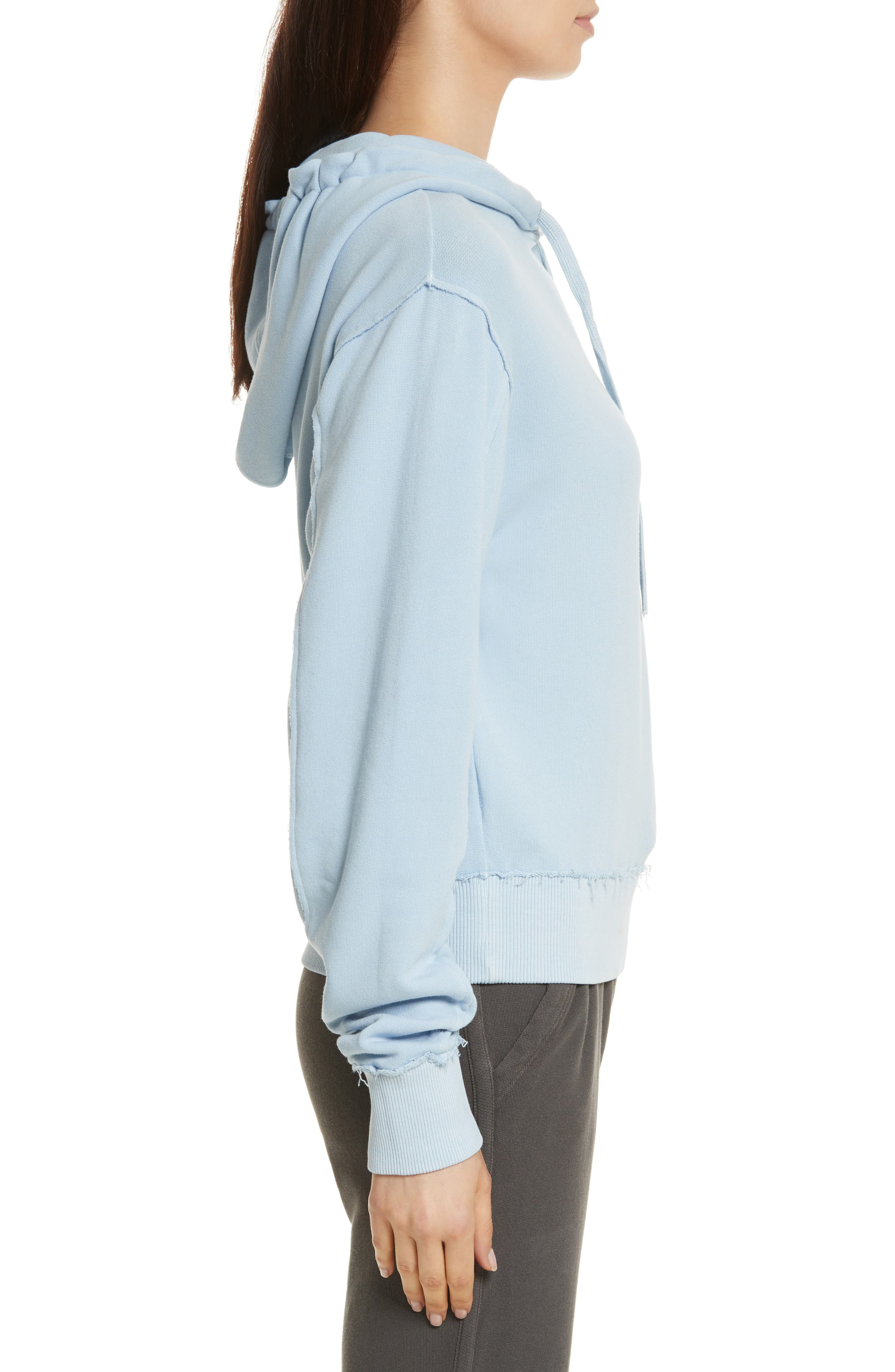 Raw Edge Hoodie,                             Alternate thumbnail 11, color,