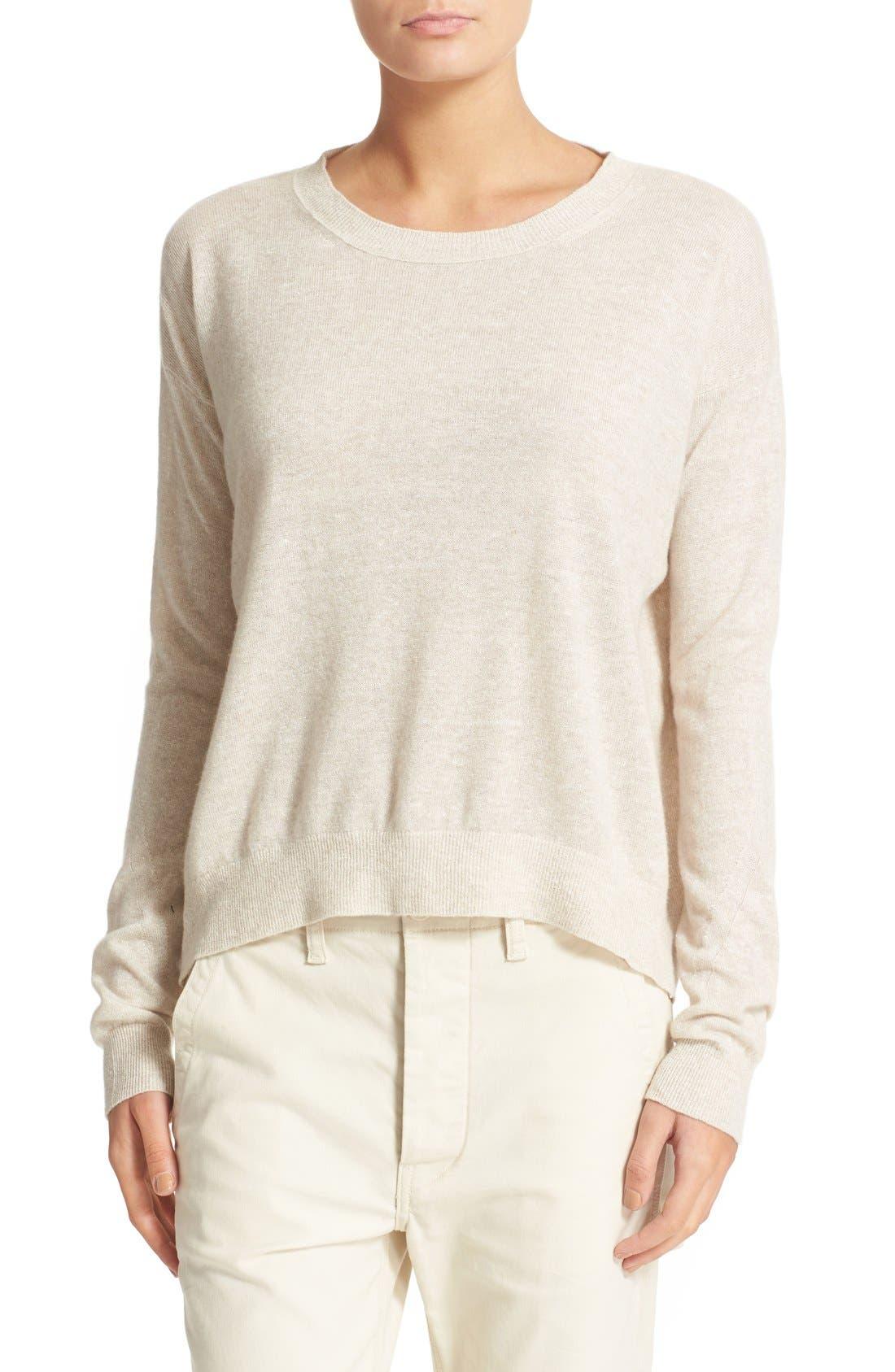 Linen & Cashmere Pullover,                             Main thumbnail 1, color,                             280