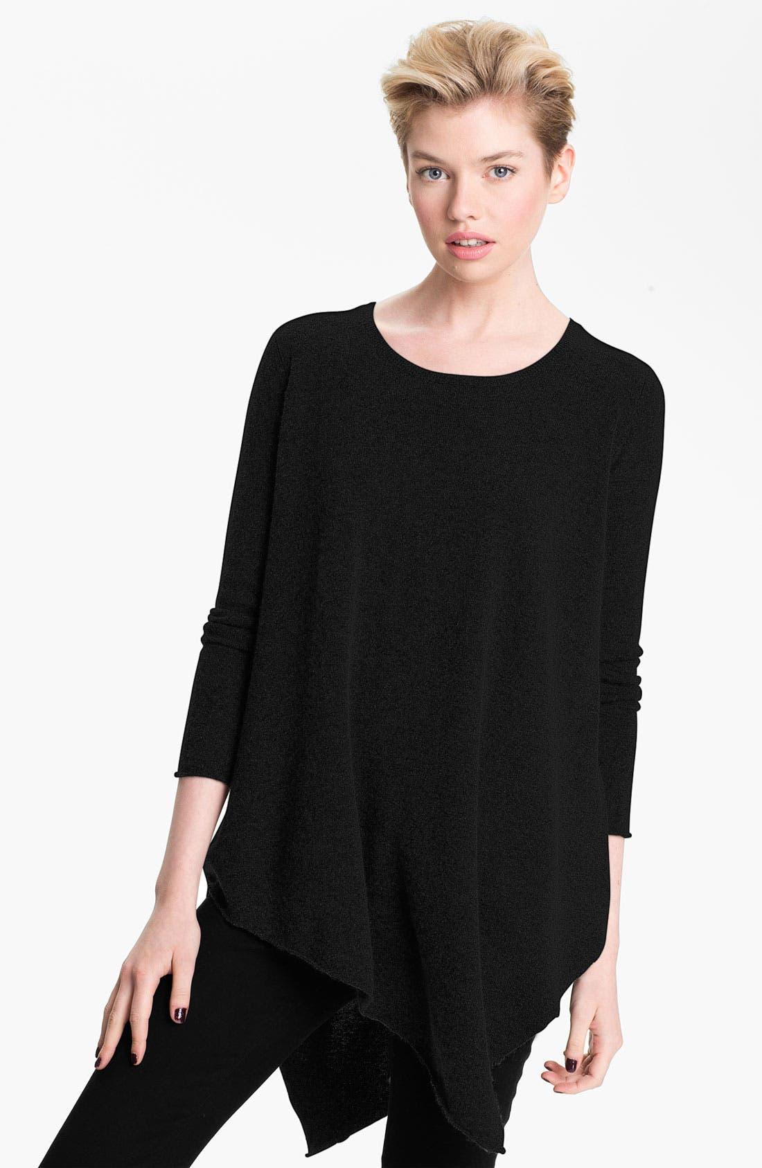 JOIE 'Tambrel' Asymmetrical Sweater Tunic, Main, color, 002