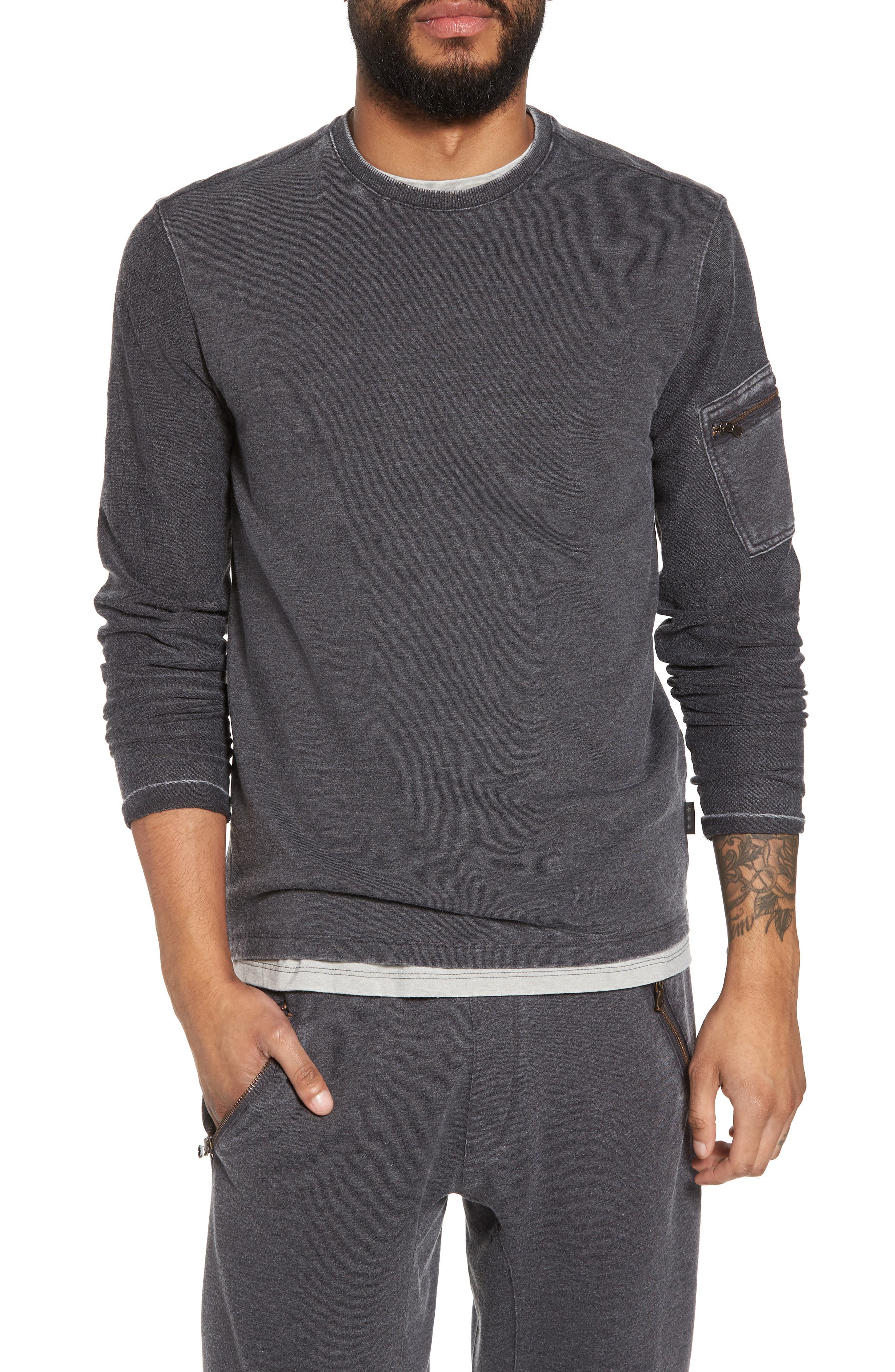 French Terry Crewneck Sweater,                             Main thumbnail 1, color,                             032