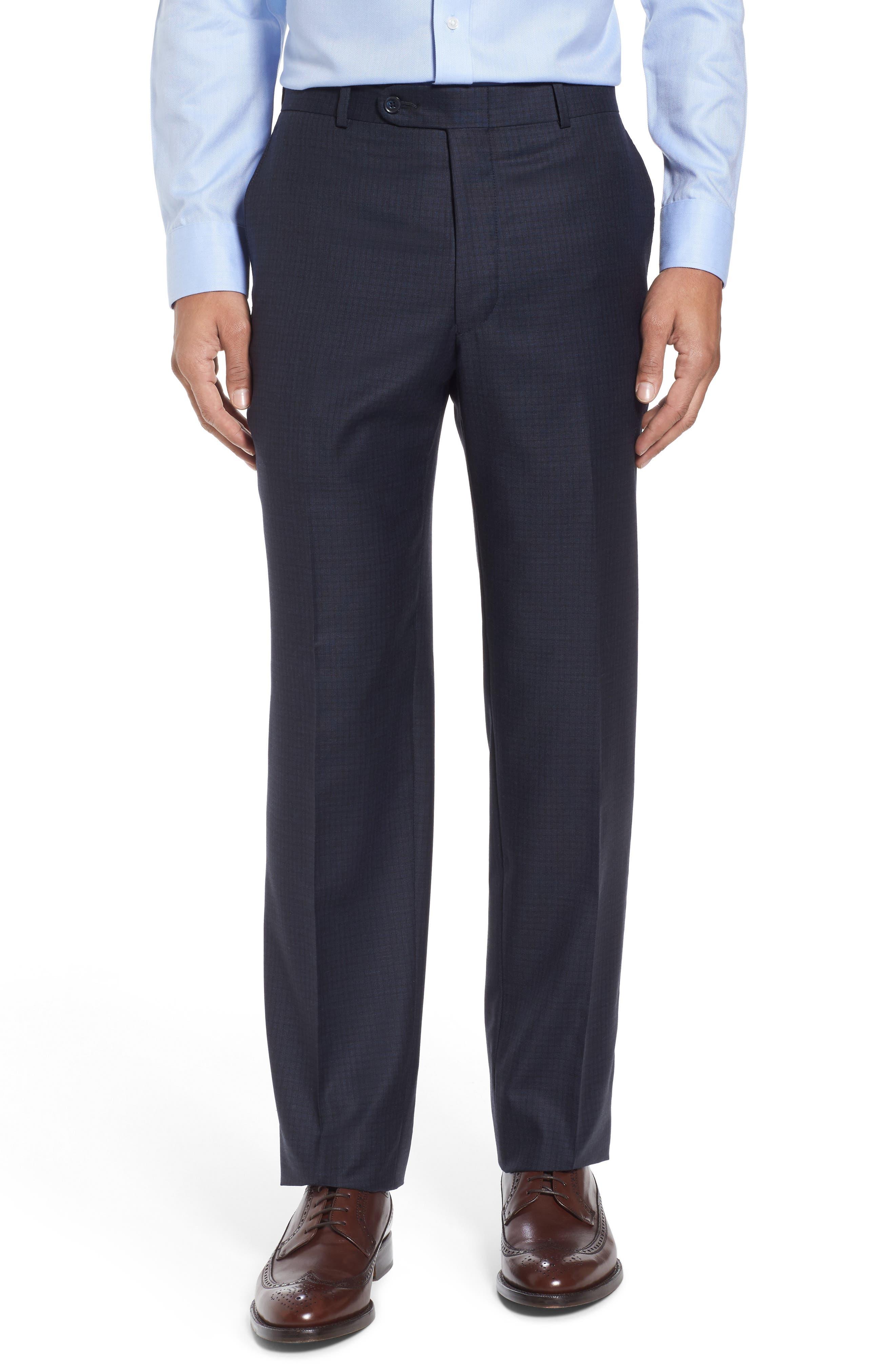 Classic Fit Check Wool Suit,                             Alternate thumbnail 6, color,                             410