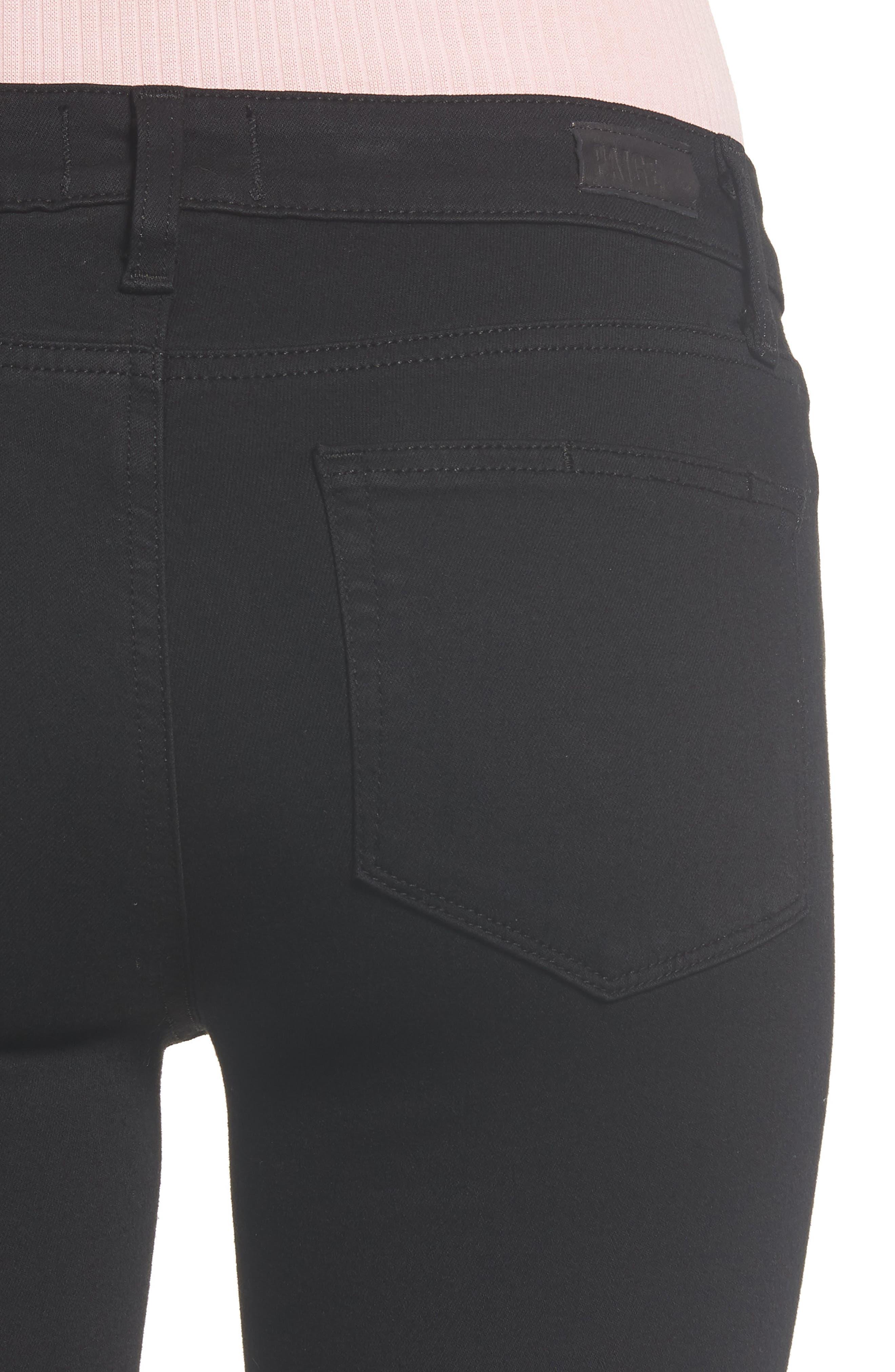 Transcend - Verdugo Ankle Ultra Skinny Jeans,                             Alternate thumbnail 6, color,                             BLACK SHADOW