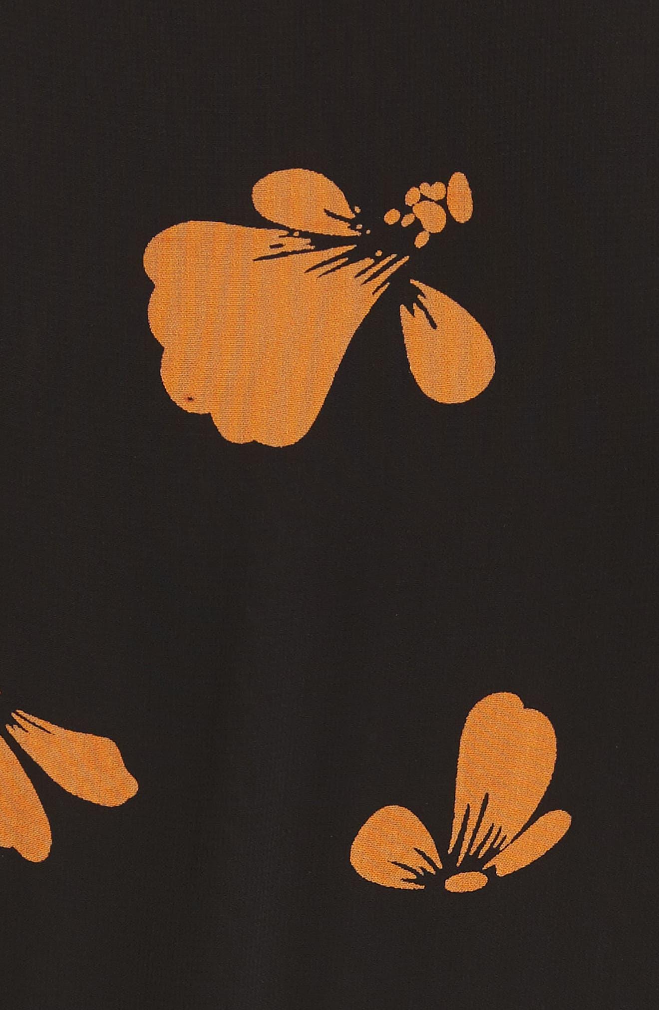 Fairfax Georgette Wrap Dress,                             Alternate thumbnail 5, color,                             001