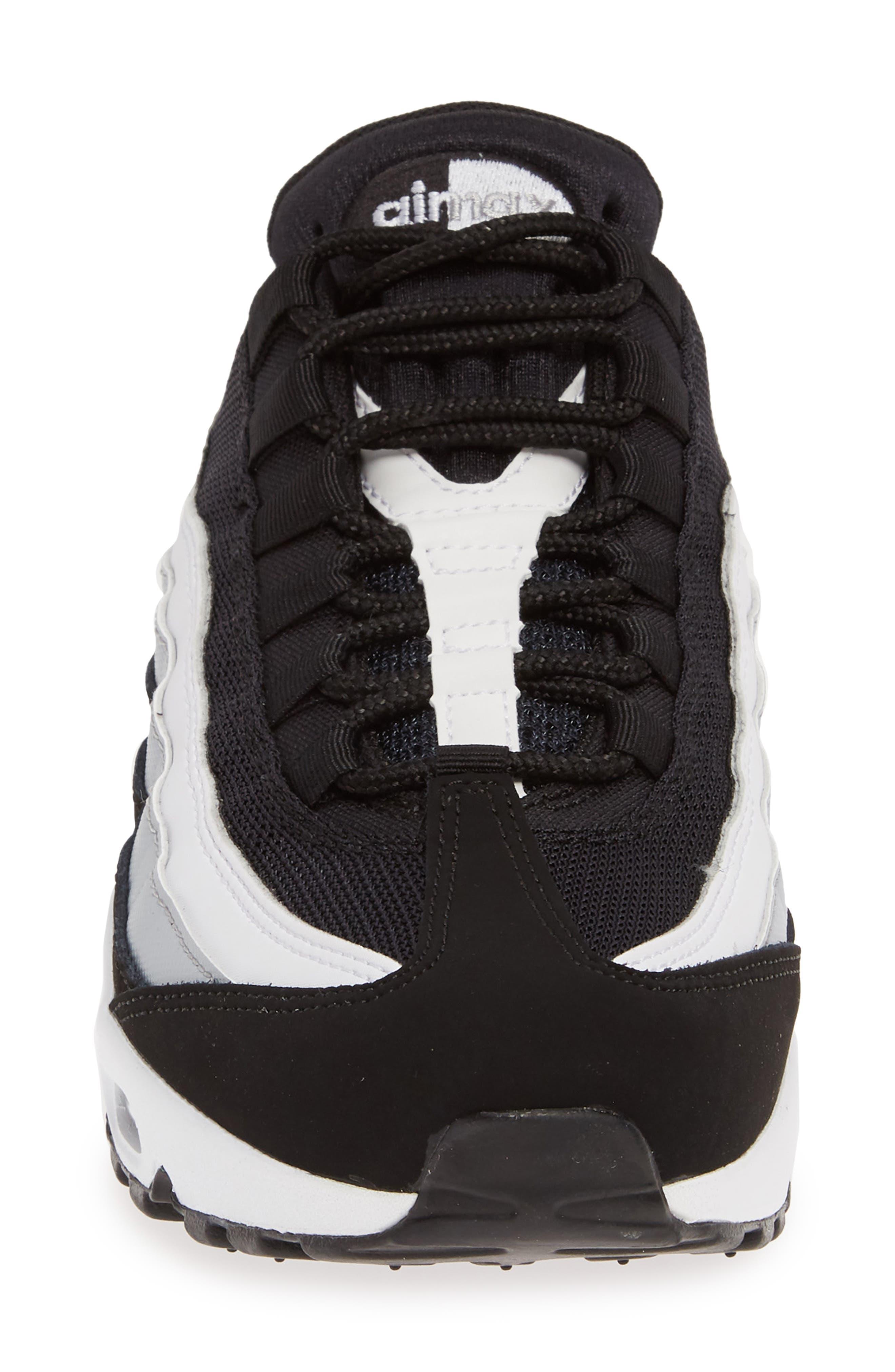 NIKE,                             'Air Max 95 Essential' Sneaker,                             Alternate thumbnail 4, color,                             BLACK/ WHITE/ WOLF GREY