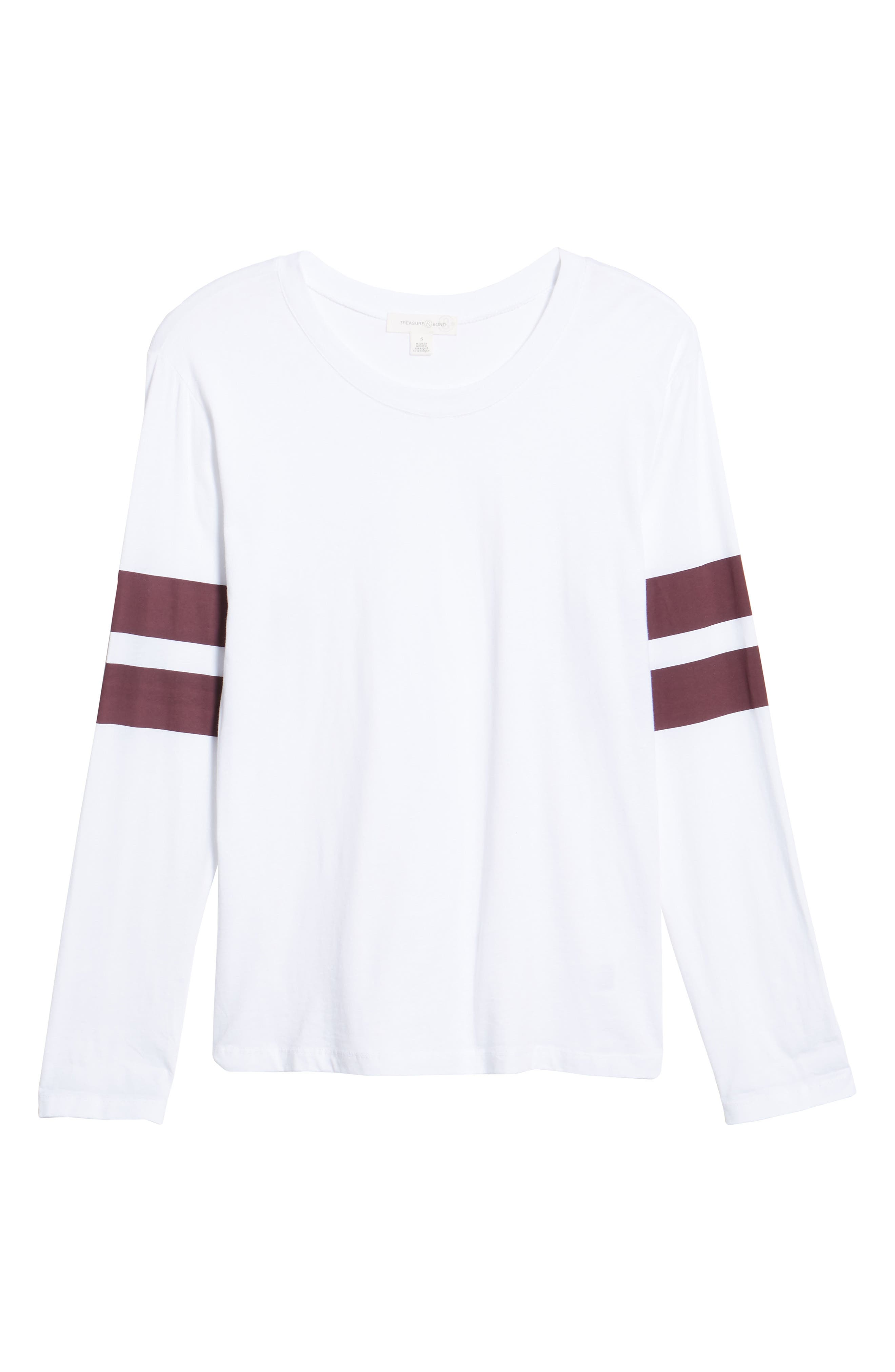 Varsity Stripe Cotton Tee,                             Alternate thumbnail 112, color,