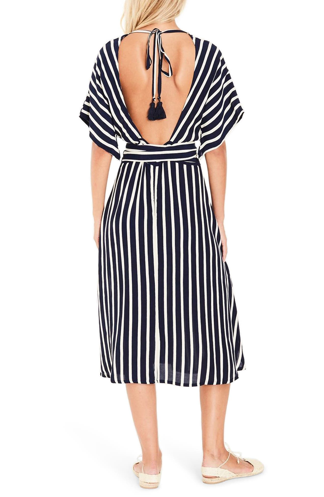 Milan Stripe Midi Dress,                             Alternate thumbnail 2, color,                             401
