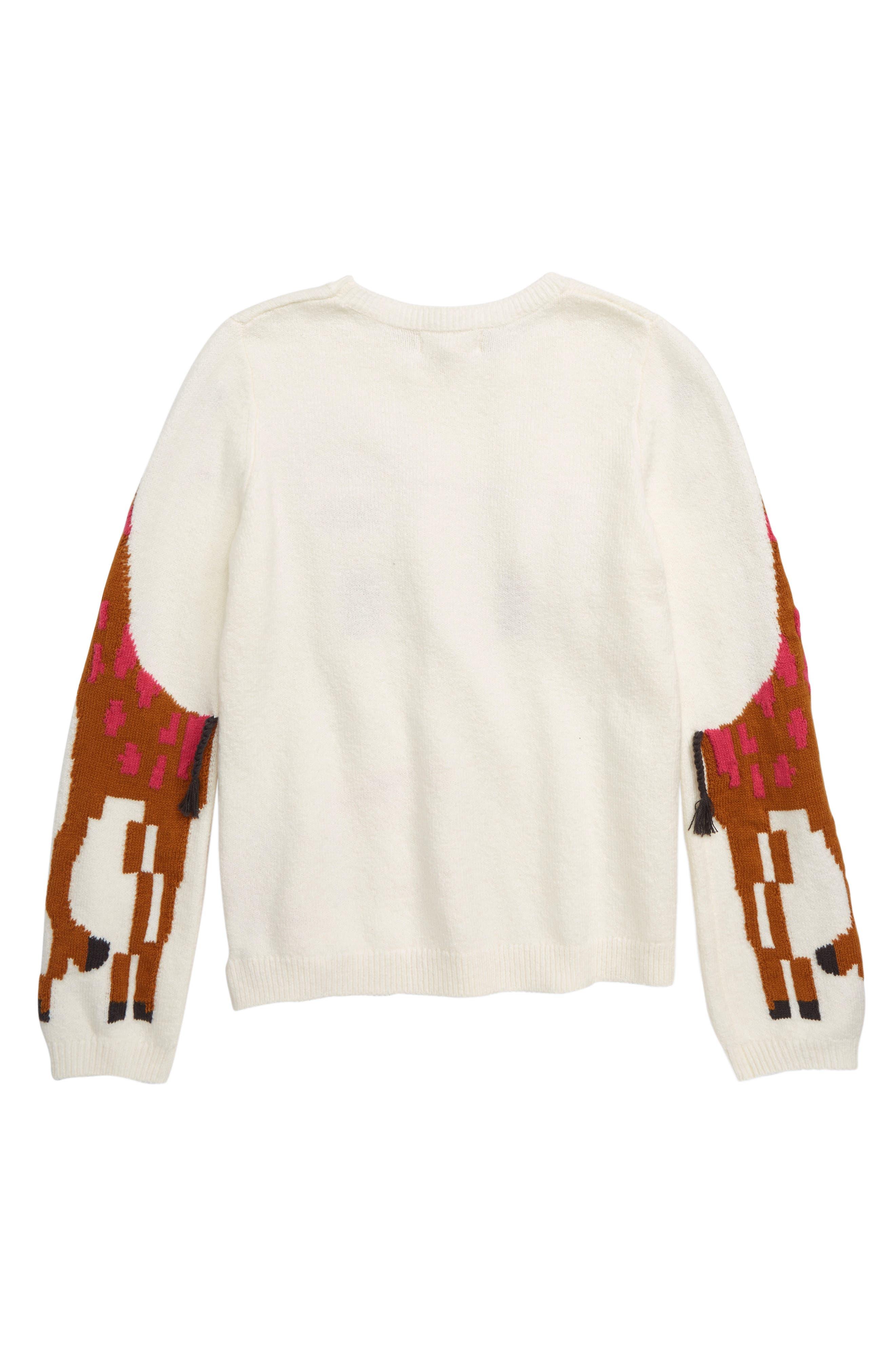 Zoo Animal Sweater,                             Alternate thumbnail 2, color,                             IVORY EGRET ZOO ANIMALS
