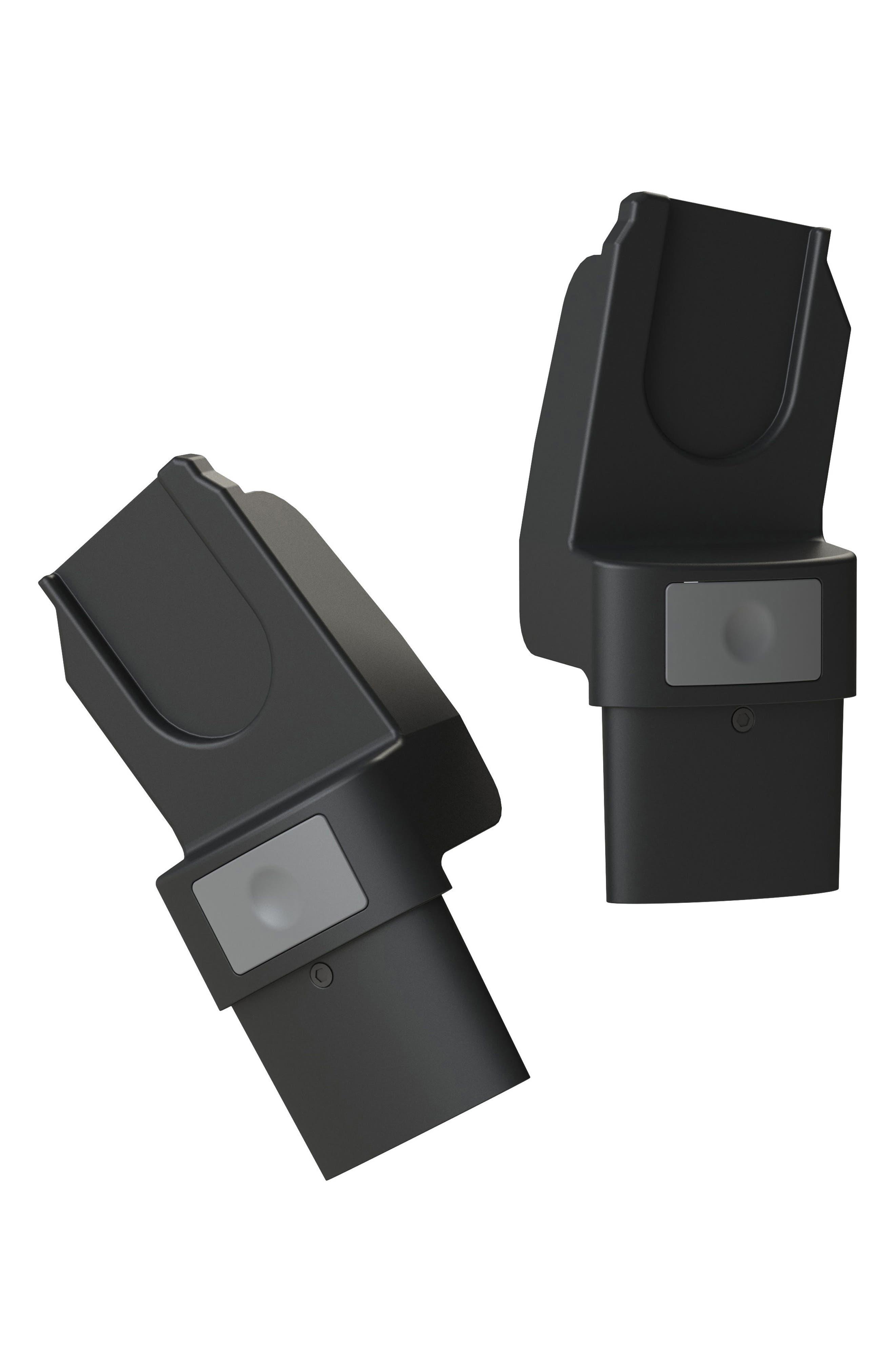 Geo2 Stroller Upper Car Seat Adapter Set,                             Main thumbnail 1, color,                             BLACK