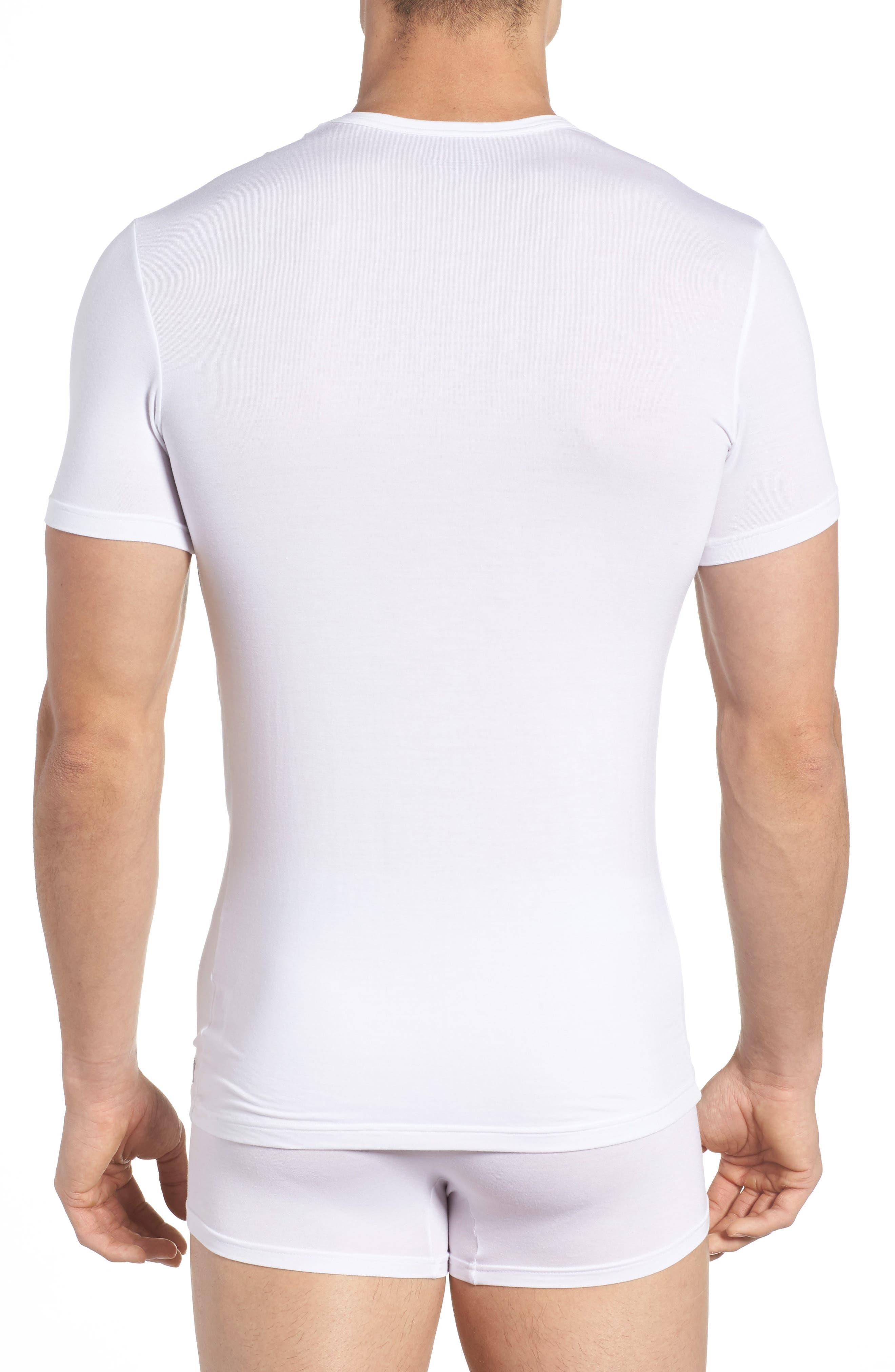 'U5551' Modal Blend Crewneck T-Shirt,                             Alternate thumbnail 2, color,                             WHITE