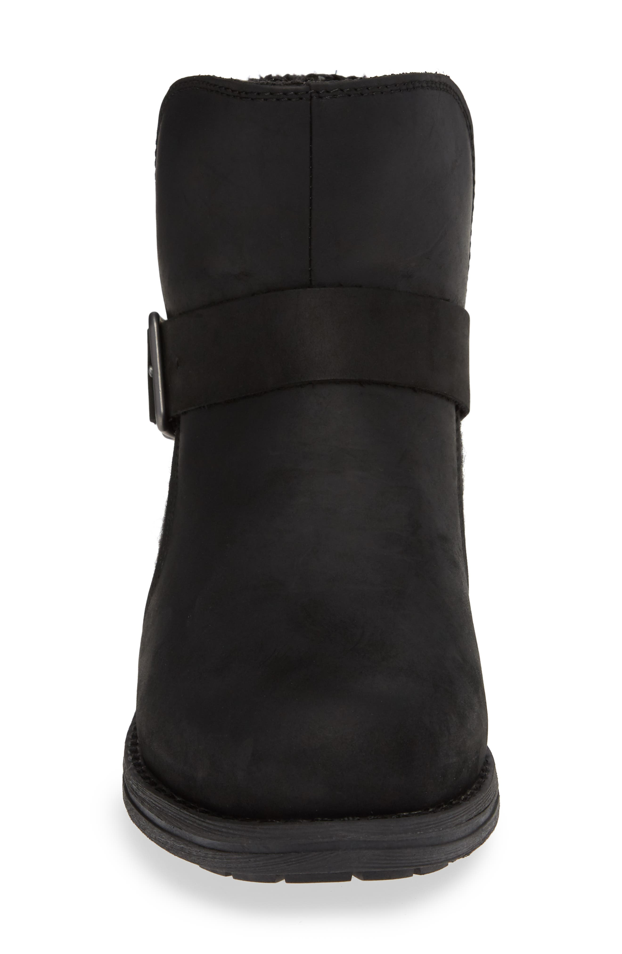 Pioneer Bootie,                             Alternate thumbnail 4, color,                             BLACK LEATHER