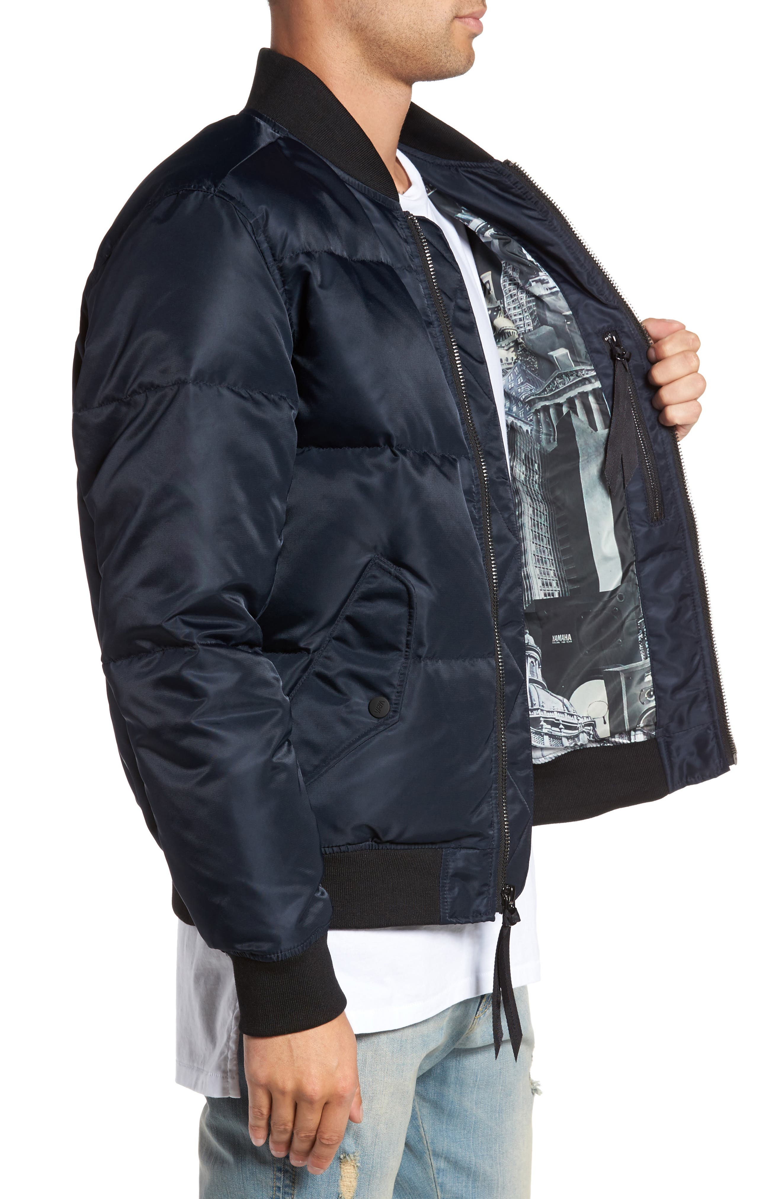 Quilted Down Bomber Jacket,                             Alternate thumbnail 11, color,