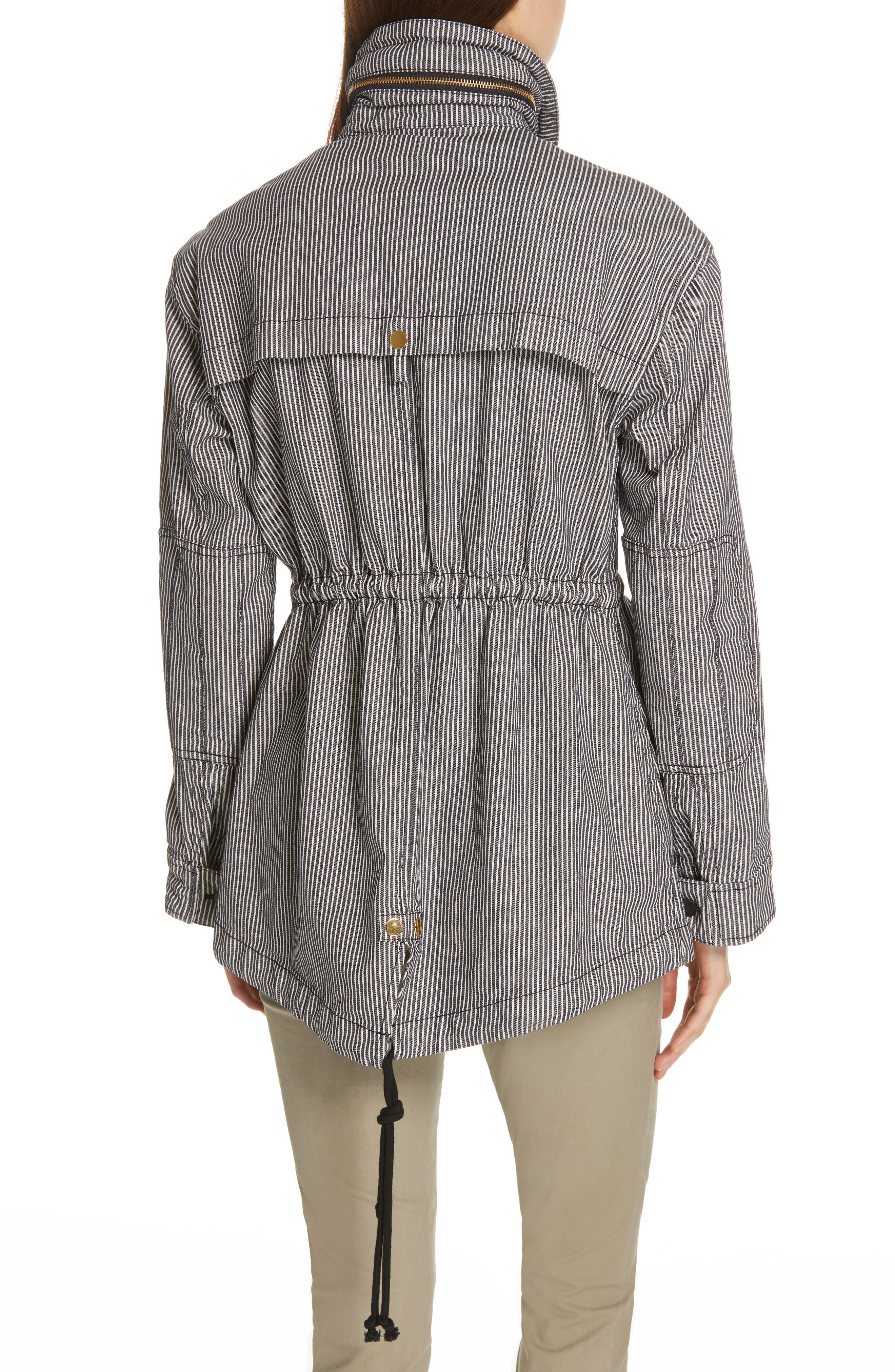 Railroad Stripe Field Jacket,                             Alternate thumbnail 2, color,                             INDIGO/ WHITE STRIPE