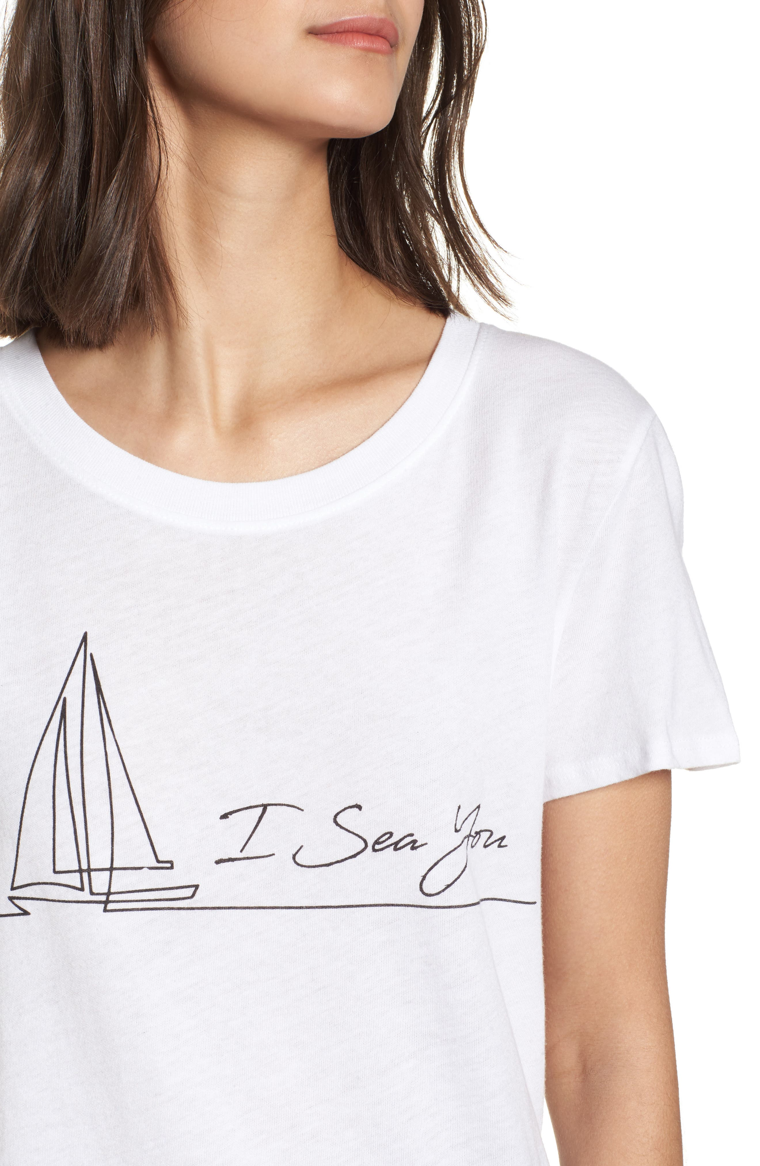 I Sea You Slouched Graphic Tee,                             Alternate thumbnail 4, color,                             100