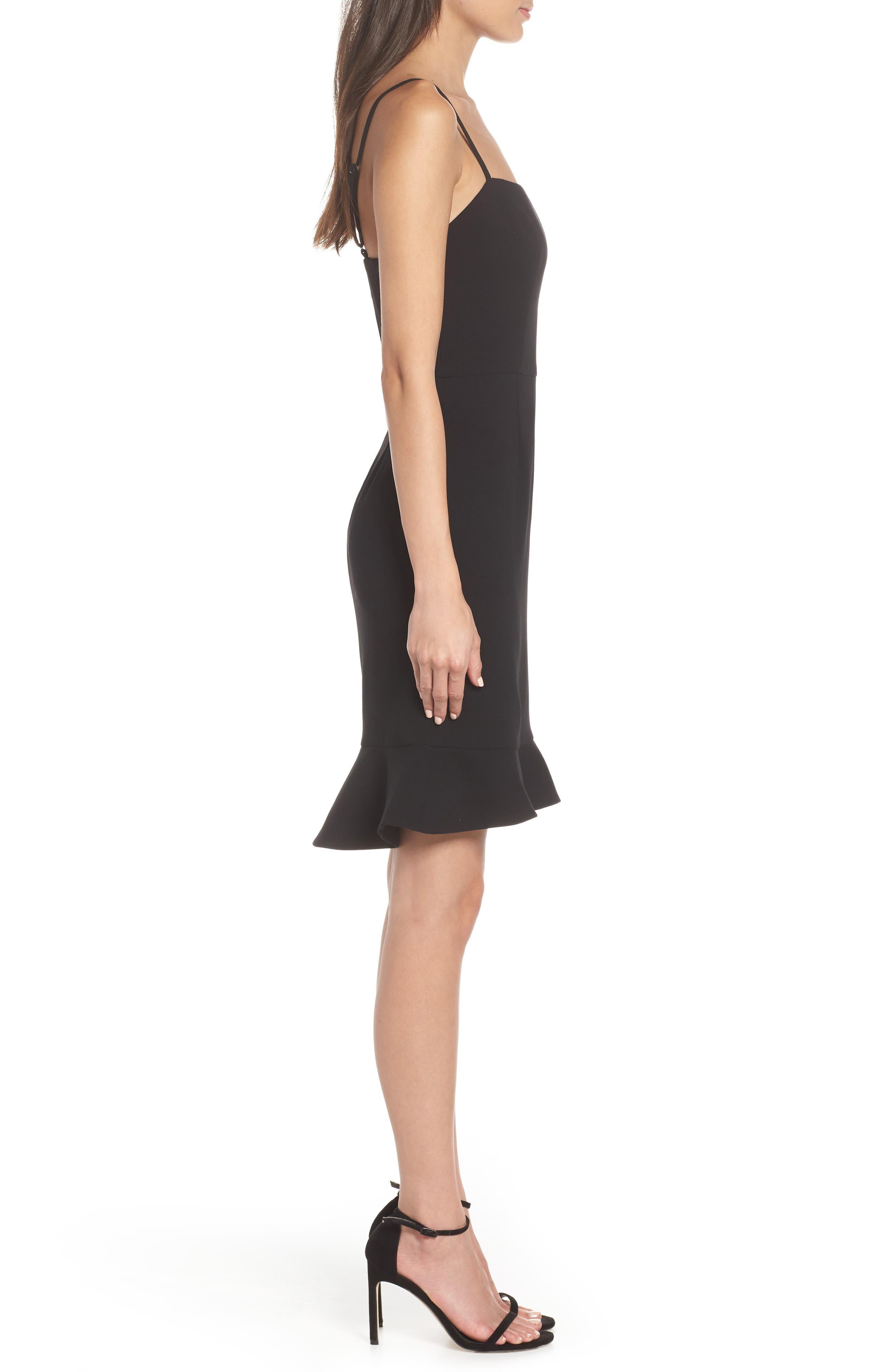 Whisper Sweetheart Dress,                             Alternate thumbnail 3, color,                             BLACK