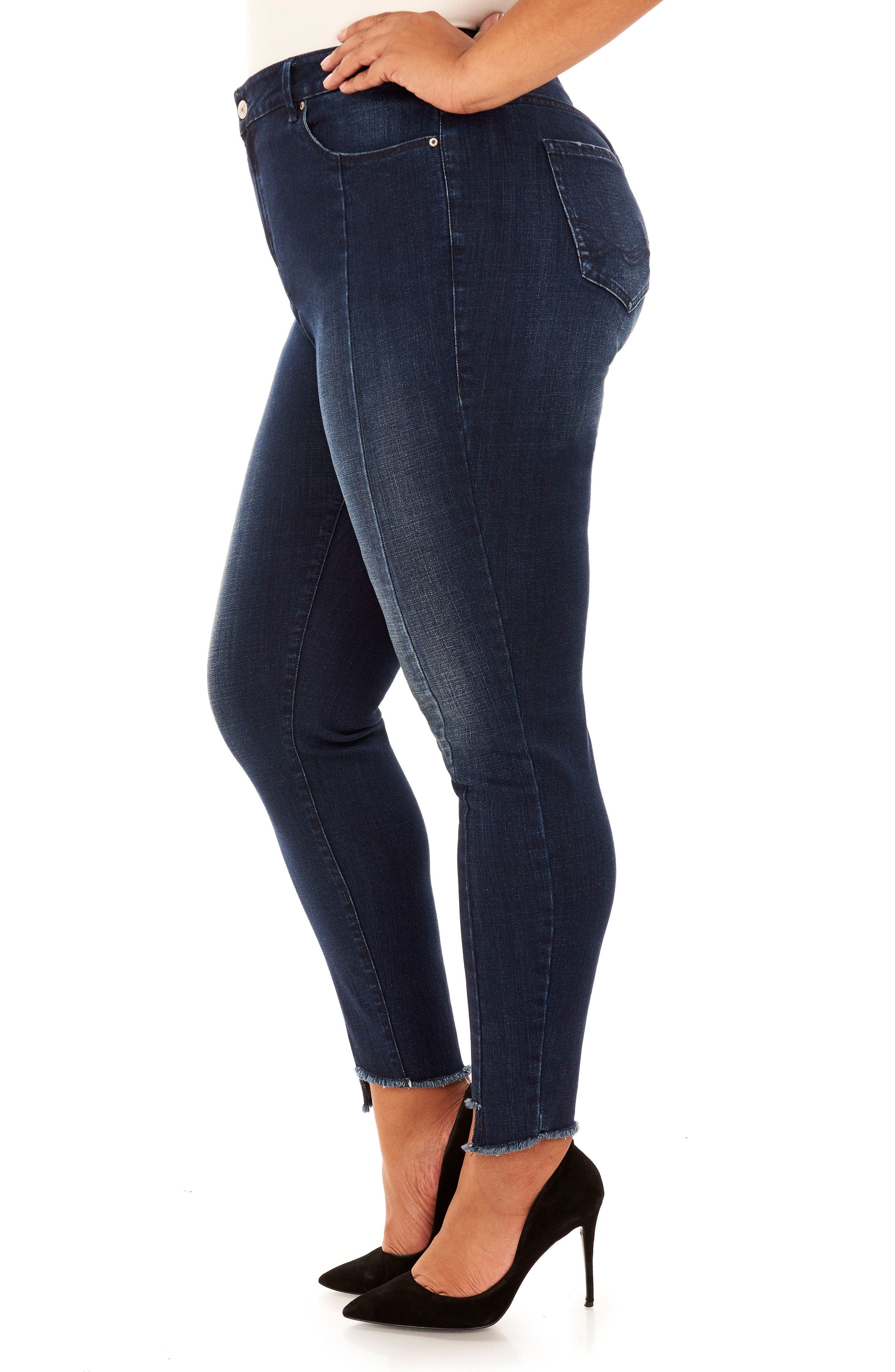 The Looker Skinny Jeans,                             Alternate thumbnail 3, color,