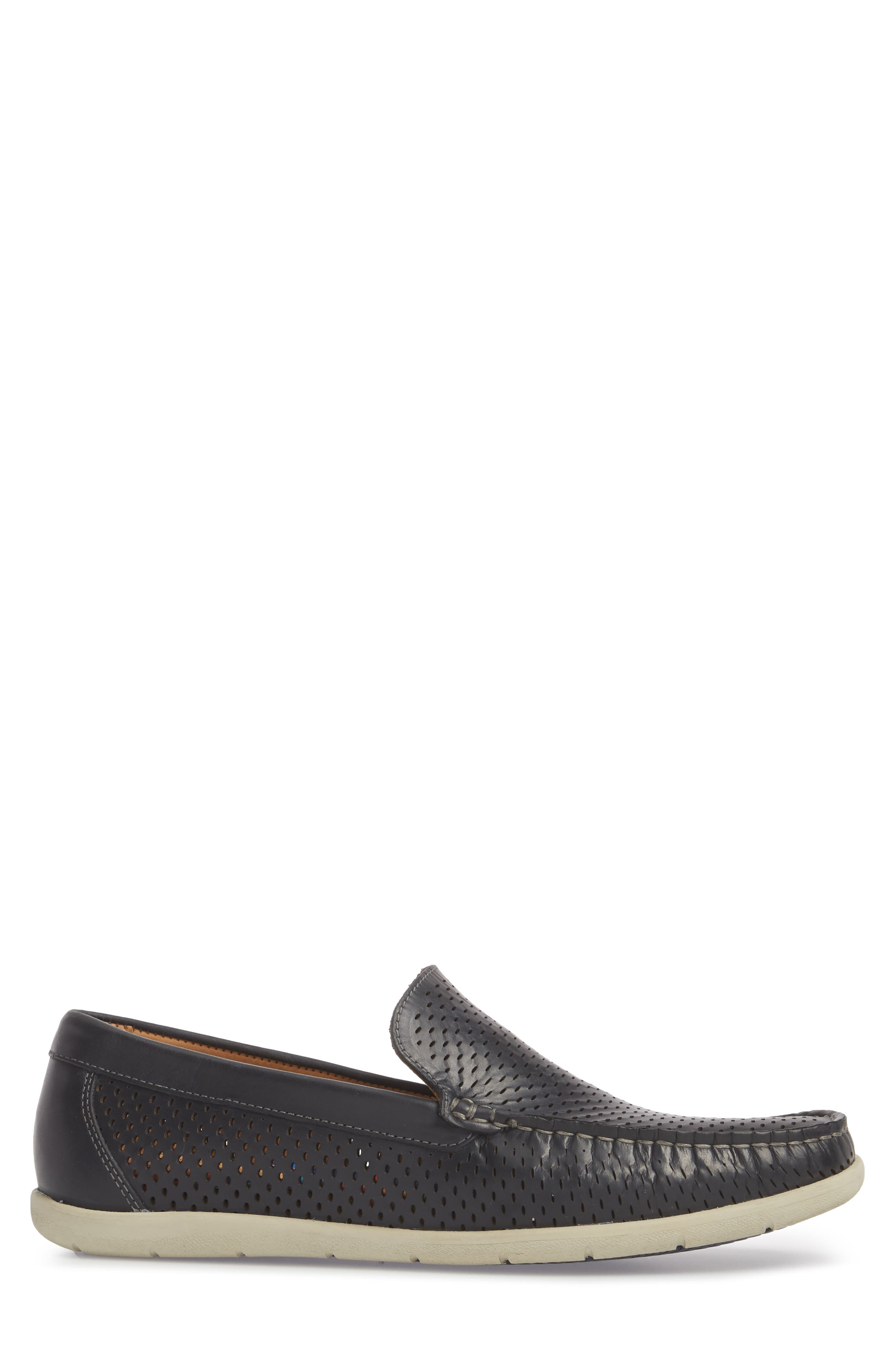 Manhattan Loafer,                             Alternate thumbnail 3, color,                             NAVY LEATHER