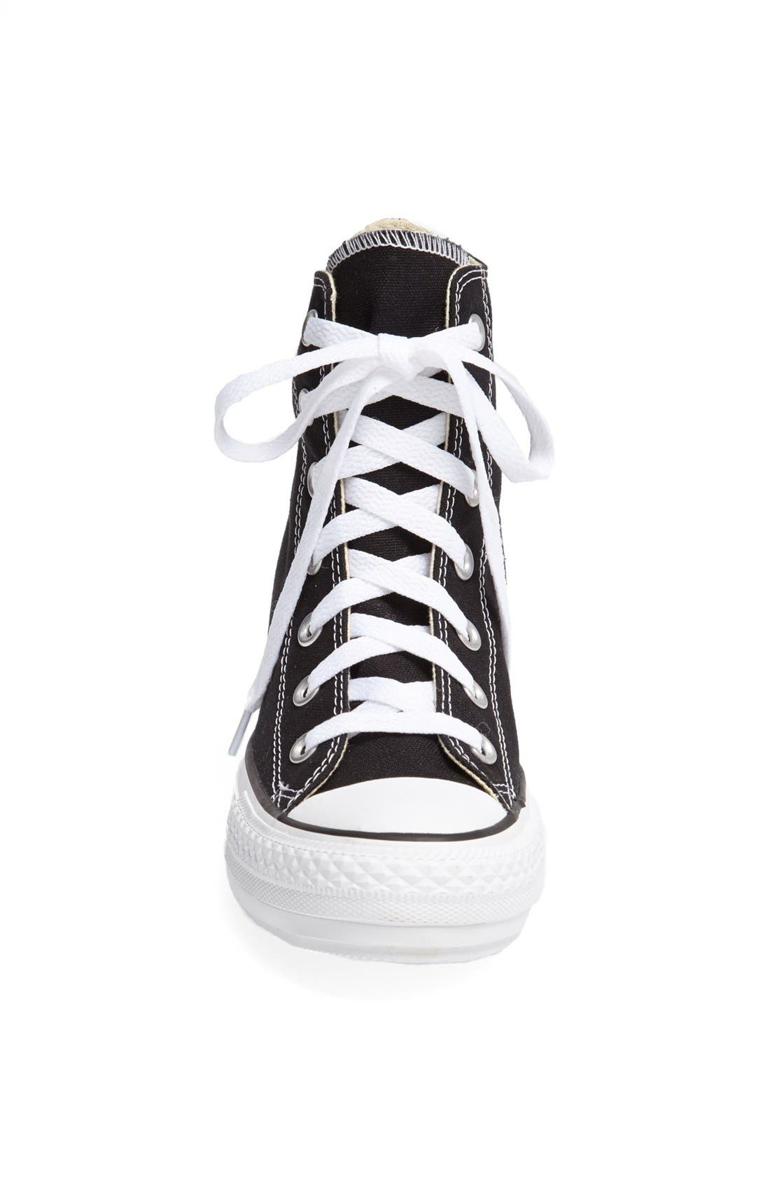 Chuck Taylor<sup>®</sup> All Star<sup>®</sup> Hidden Wedge Platform High-Top Sneaker,                             Alternate thumbnail 4, color,                             001